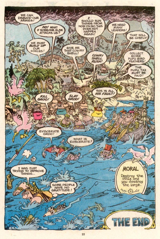 Read online Sergio Aragonés Groo the Wanderer comic -  Issue #55 - 23