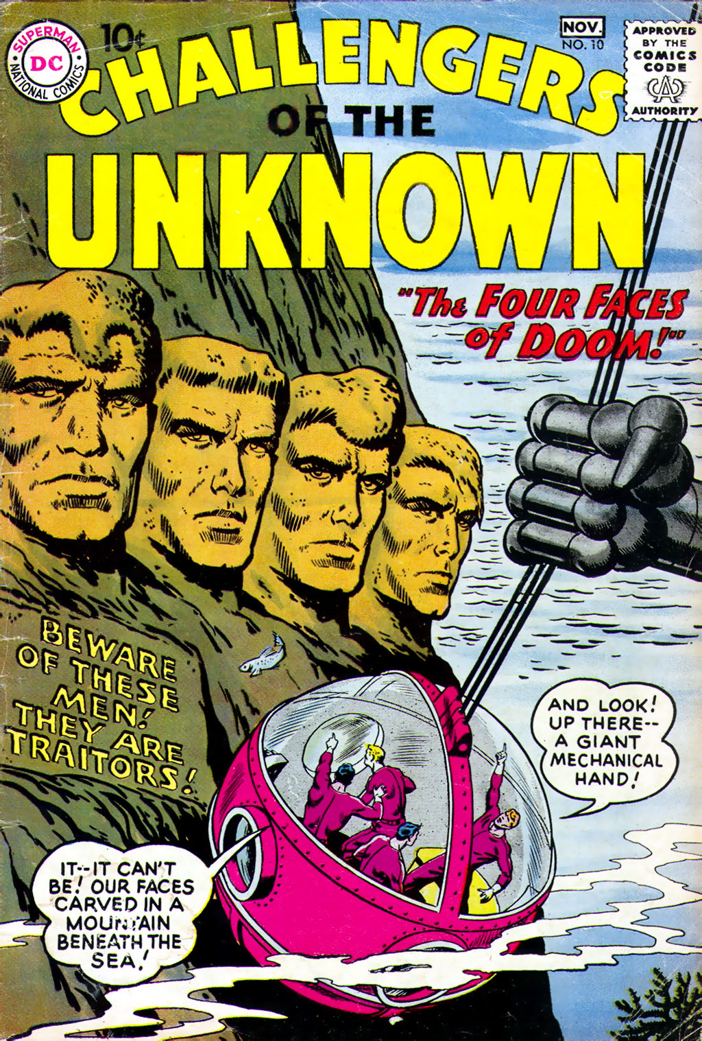Challengers of the Unknown (1958) 10 Page 1