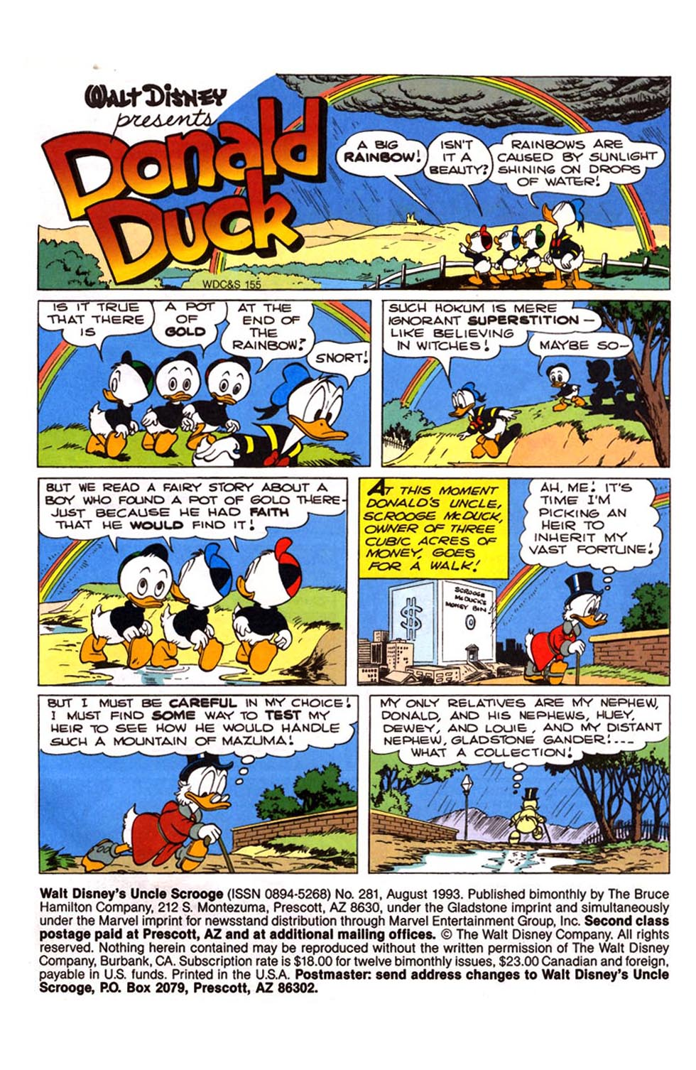 Read online Uncle Scrooge (1953) comic -  Issue #281 - 2
