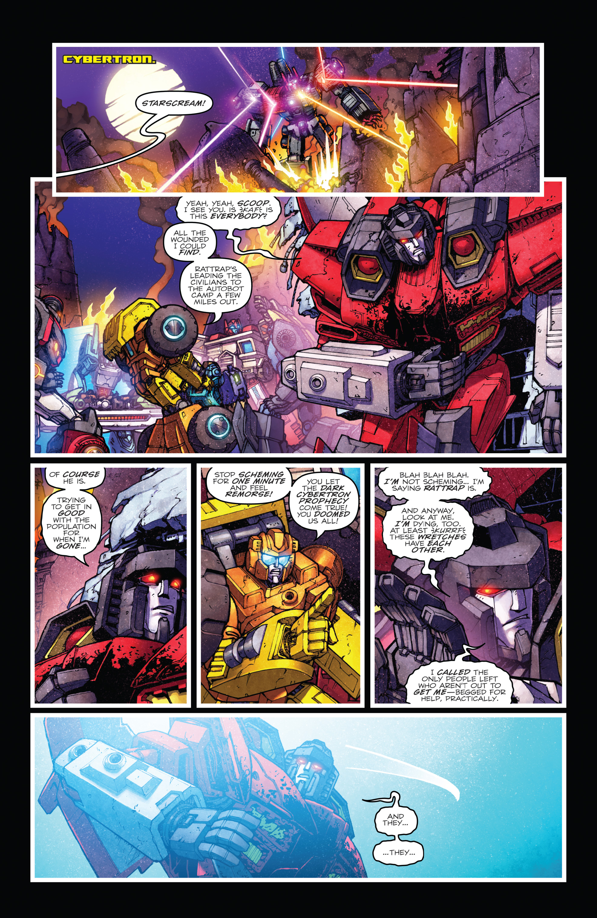 Read online The Transformers: Dark Cybertron Finale comic -  Issue # Full - 54