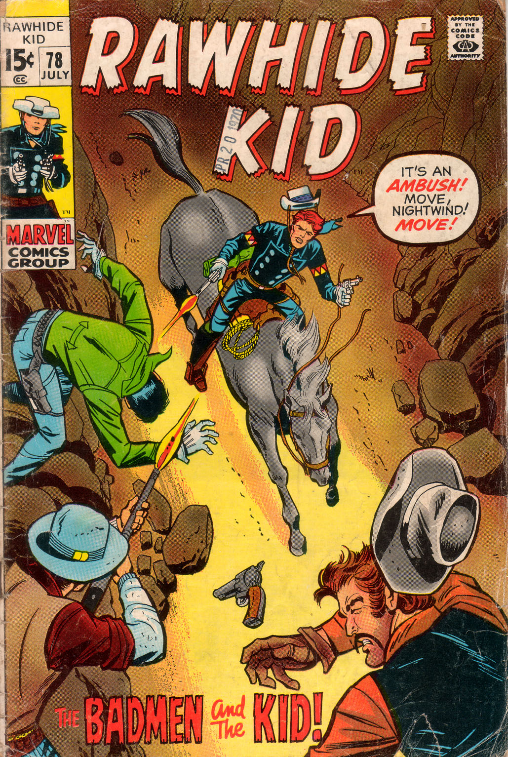 The Rawhide Kid (1955) issue 78 - Page 1