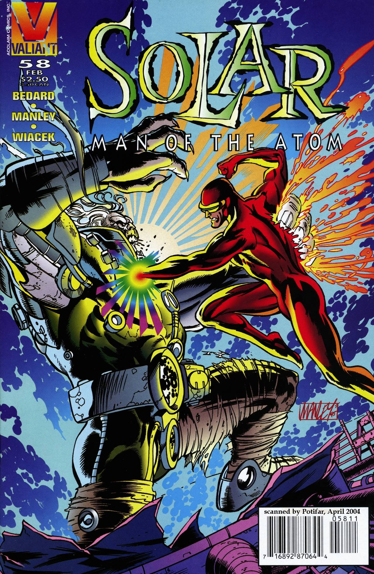 Read online Solar, Man of the Atom comic -  Issue #58 - 1