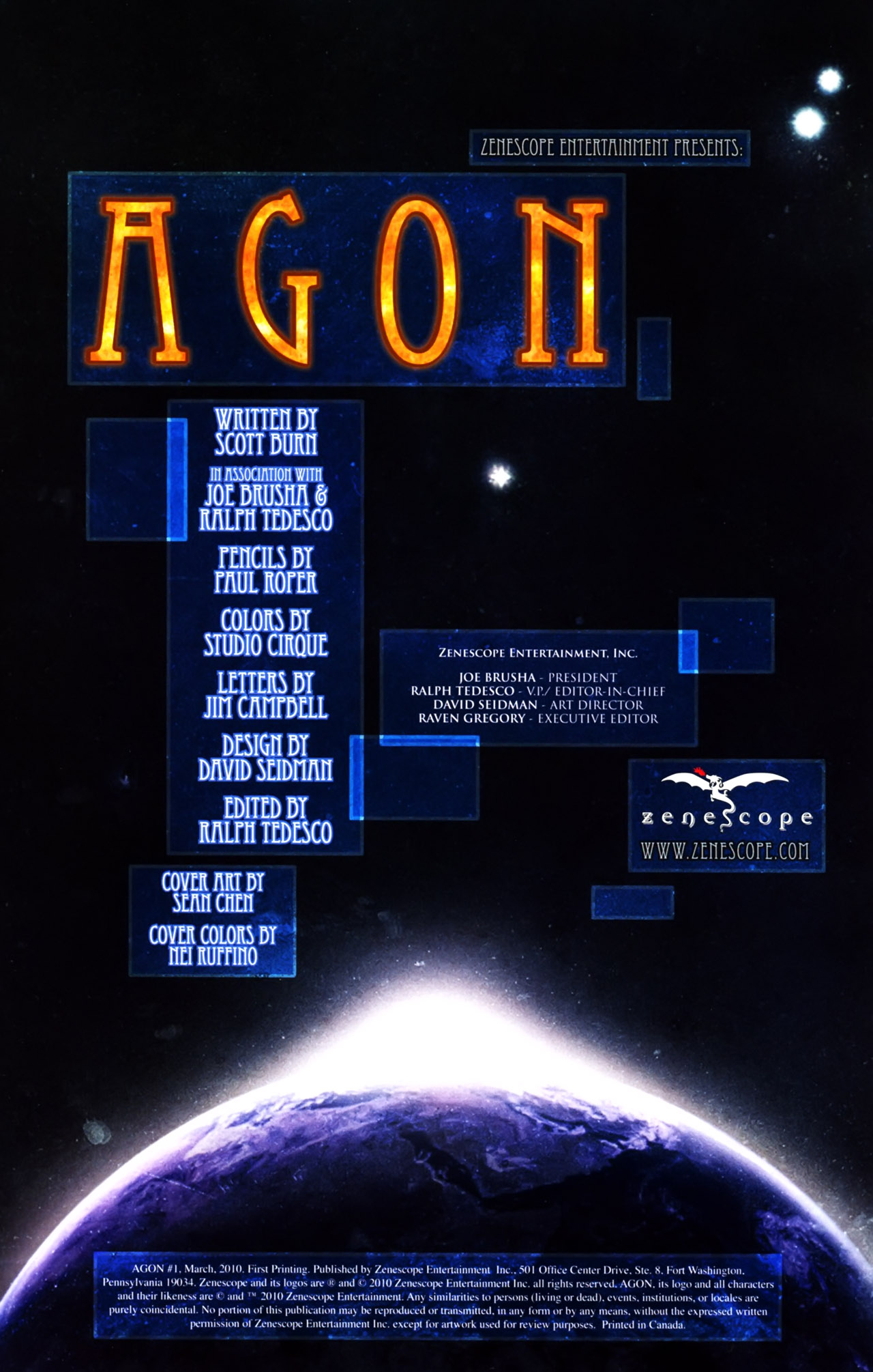 Read online Agon comic -  Issue #1 - 2