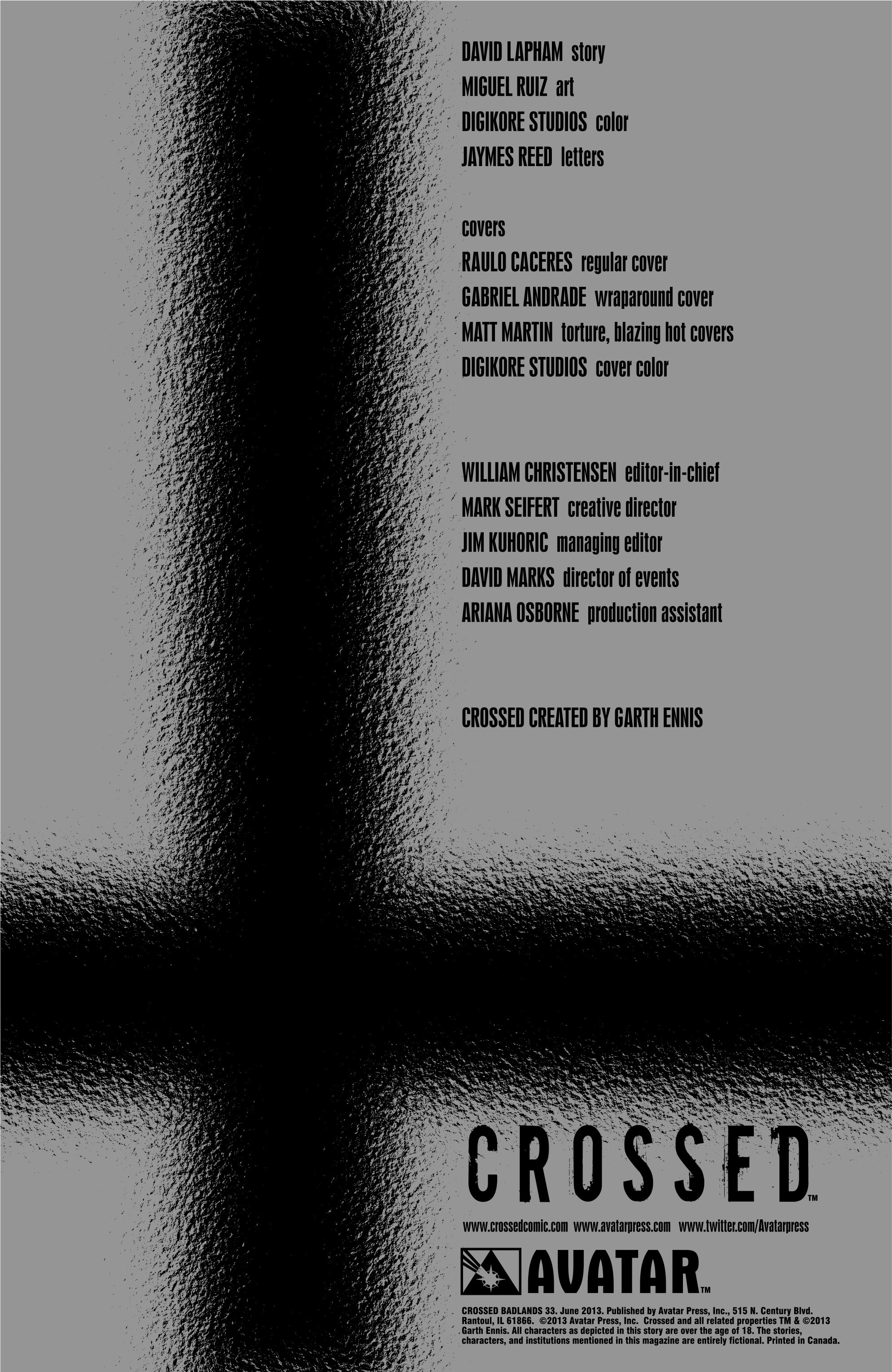 Crossed: Badlands 33 Page 2