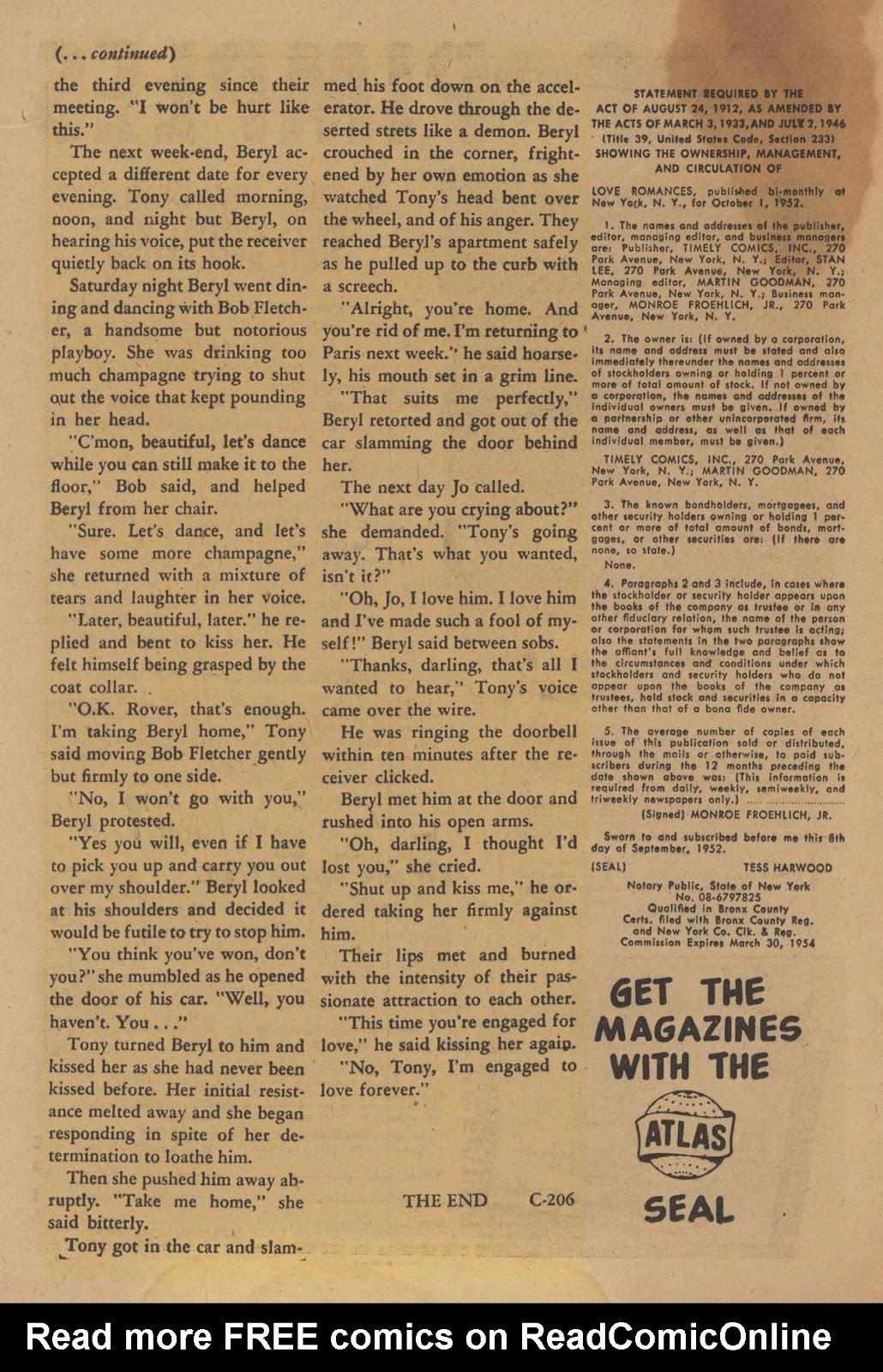 Love Romances (1949) issue 28 - Page 20