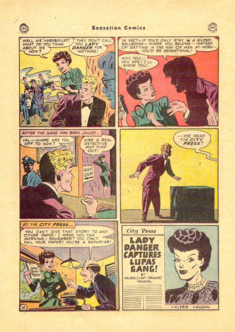 Read online Sensation (Mystery) Comics comic -  Issue #84 - 28