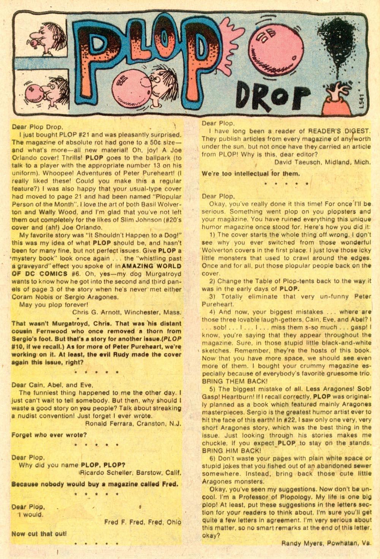 Read online Plop! comic -  Issue #24 - 47