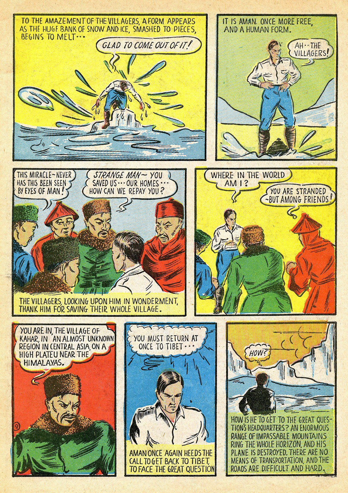 Read online Amazing Man Comics comic -  Issue #10 - 12