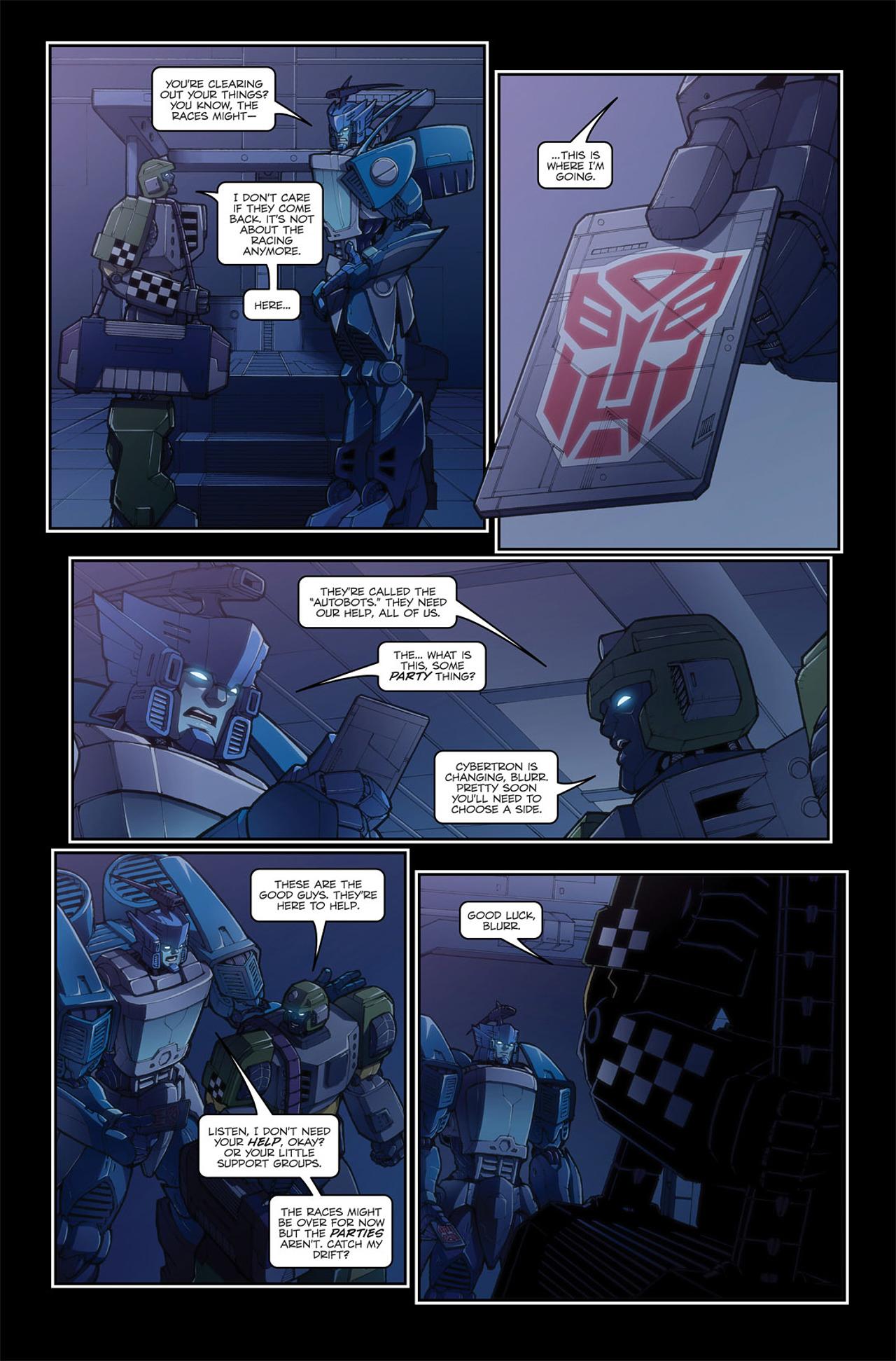 Read online Transformers Spotlight: Blurr comic -  Issue # Full - 13