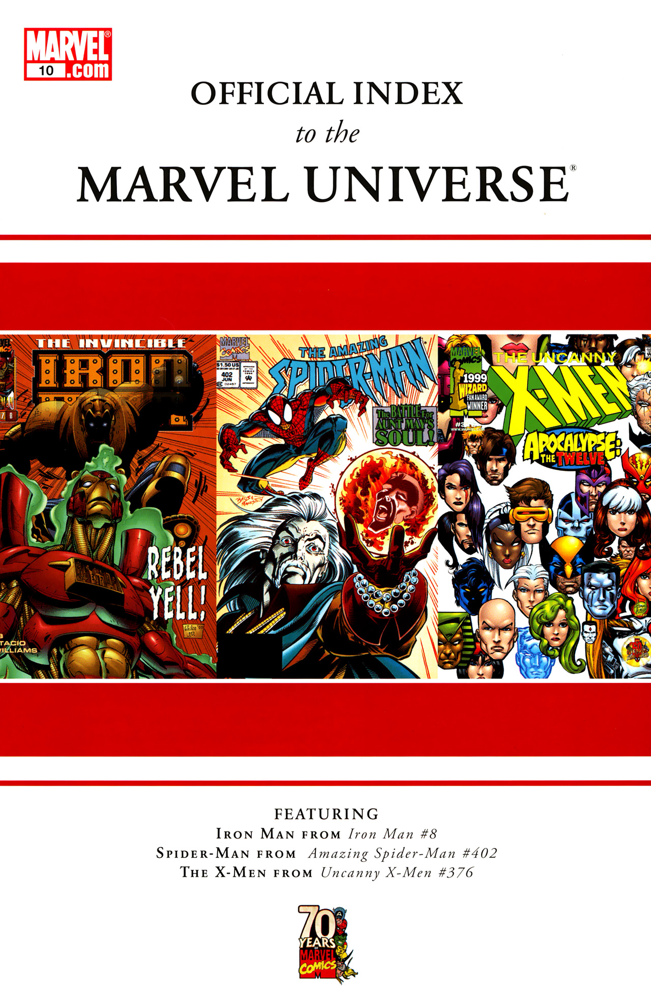 Read online Official Index to the Marvel Universe comic -  Issue #10 - 1