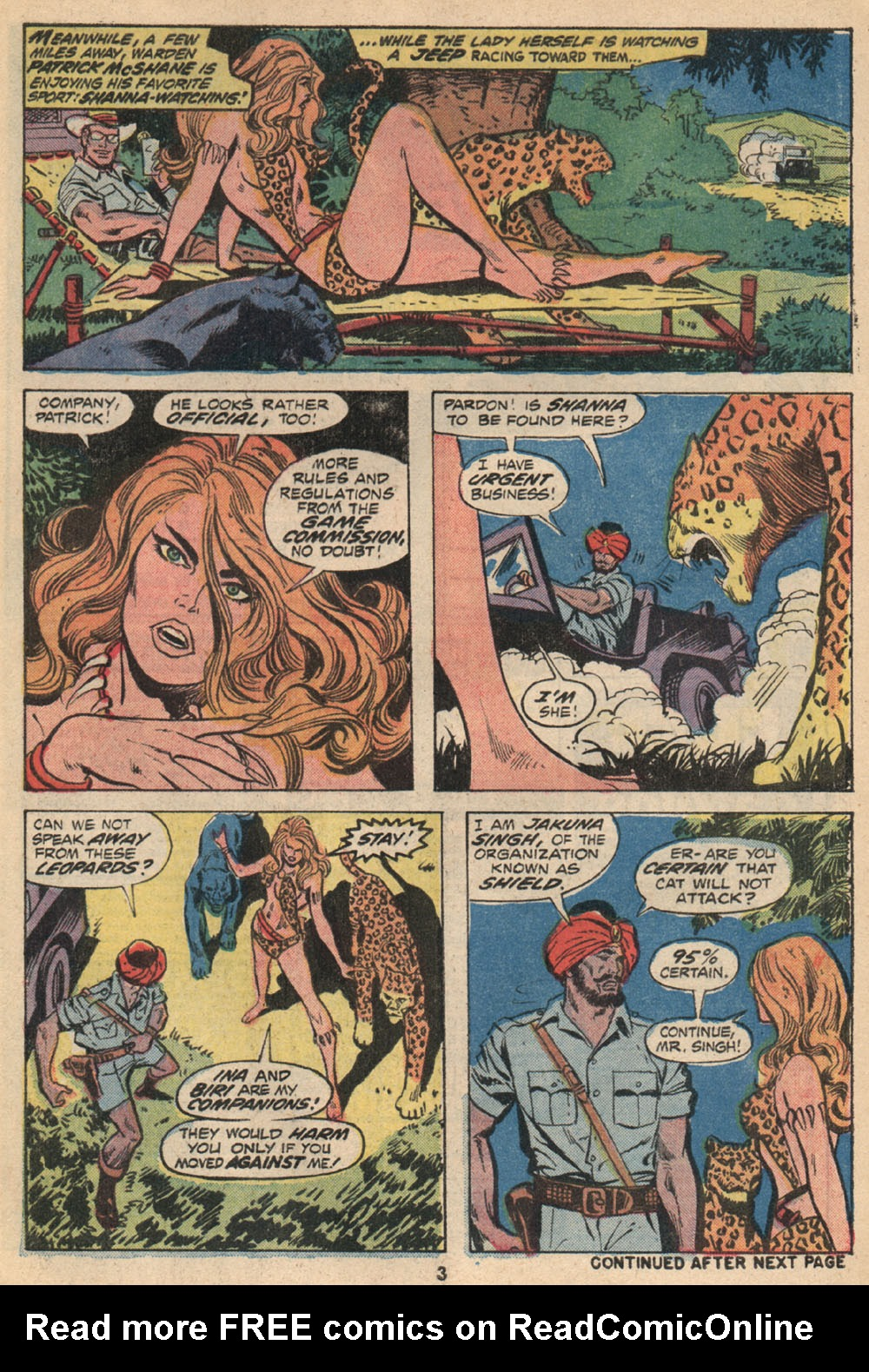Read online Shanna, the She-Devil (1972) comic -  Issue #2 - 4