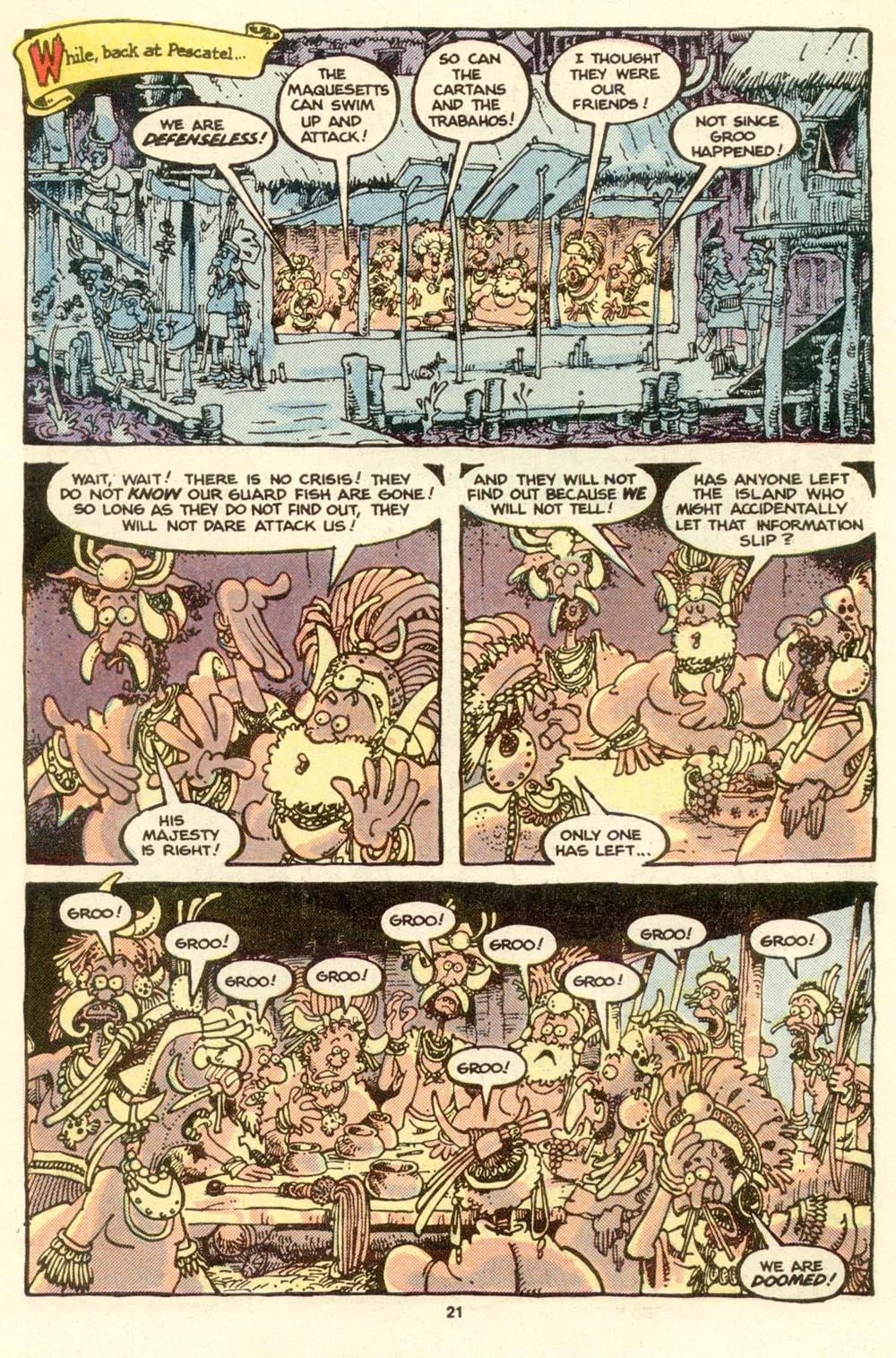 Read online Sergio Aragonés Groo the Wanderer comic -  Issue #17 - 22