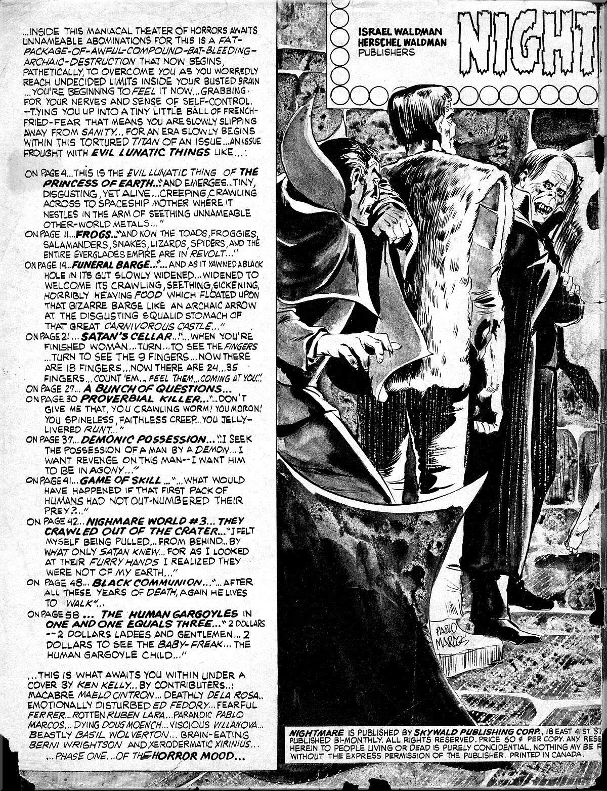 Nightmare (1970) issue 10 - Page 2