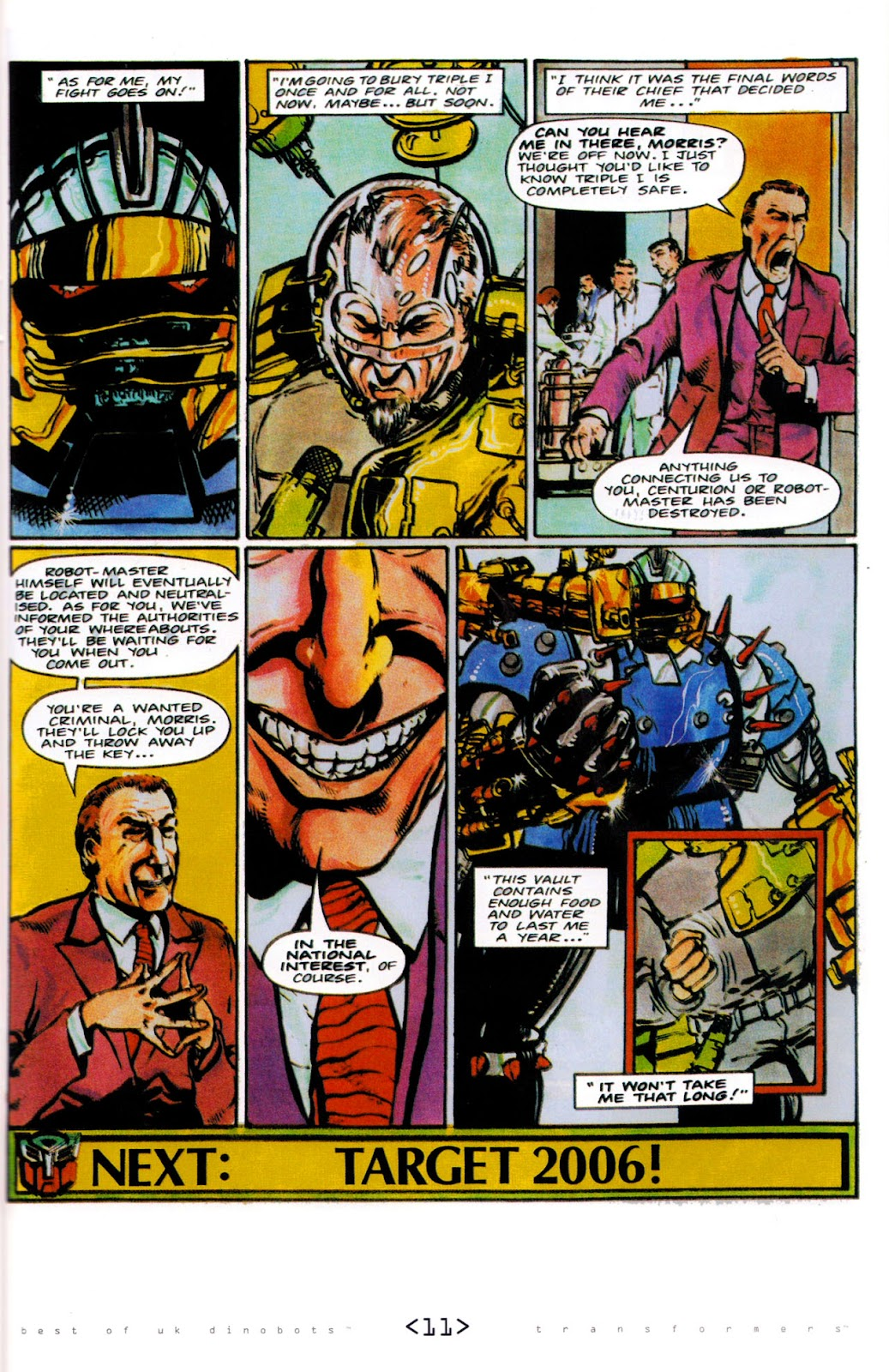Read online The Transformers: Best of UK: Dinobots comic -  Issue #6 - 14
