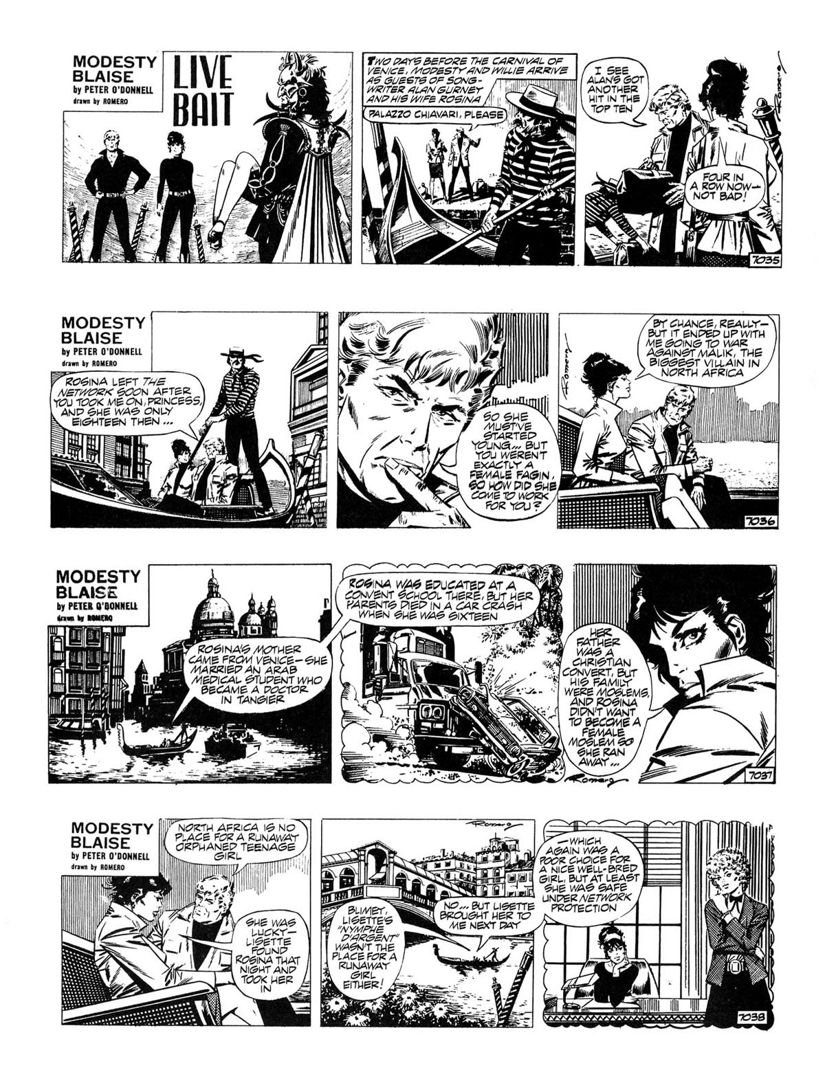 Read online Modesty Blaise Live bait comic -  Issue # TPB - 2