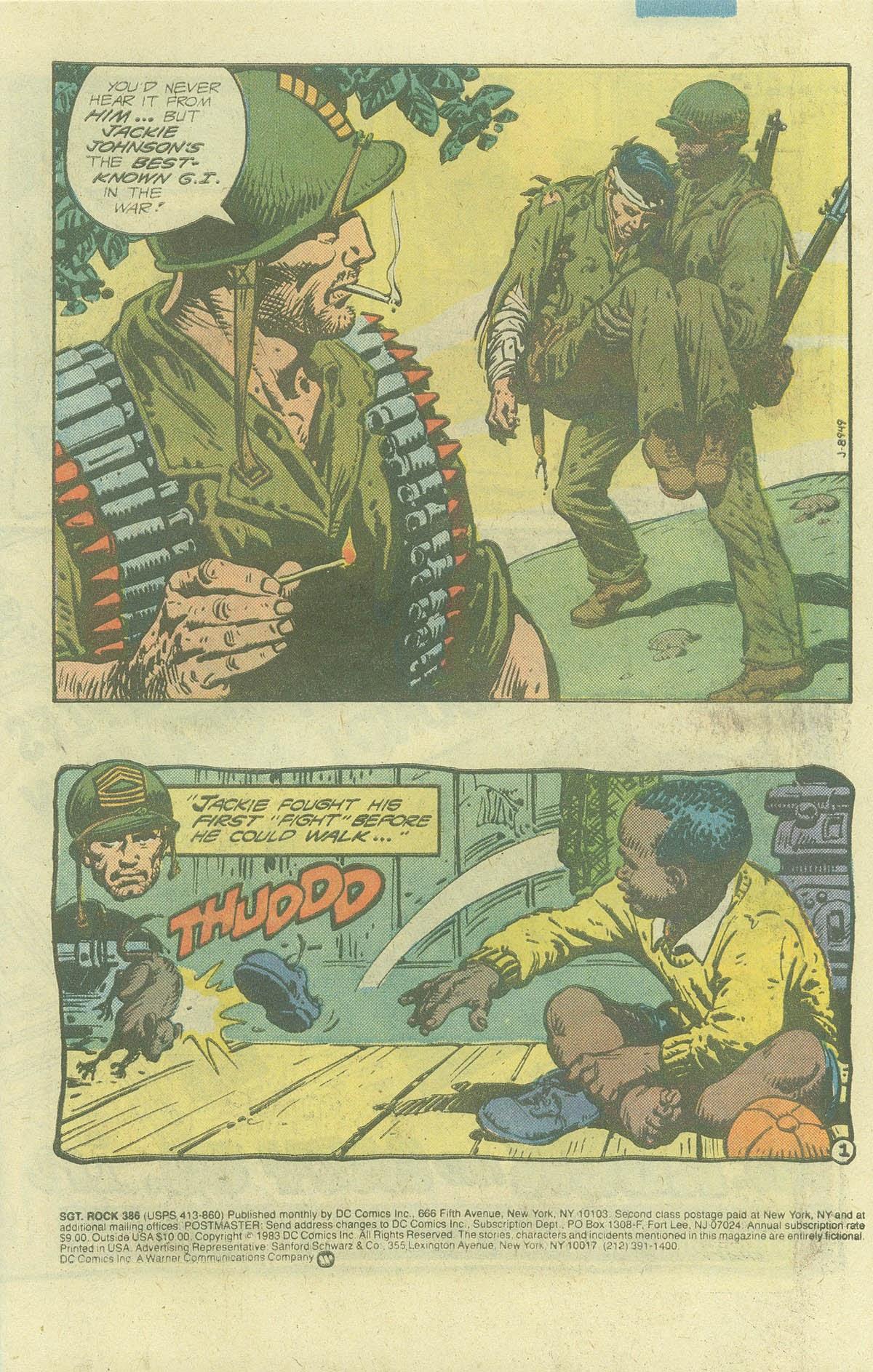 Read online Sgt. Rock comic -  Issue #386 - 2