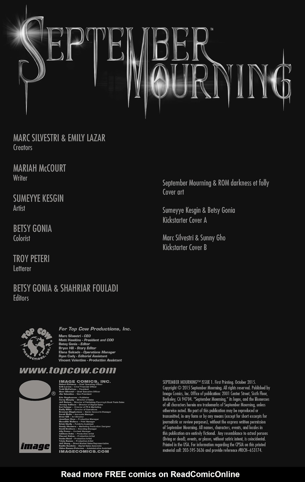 Read online September Mourning Volume 1 comic -  Issue #1 - 4