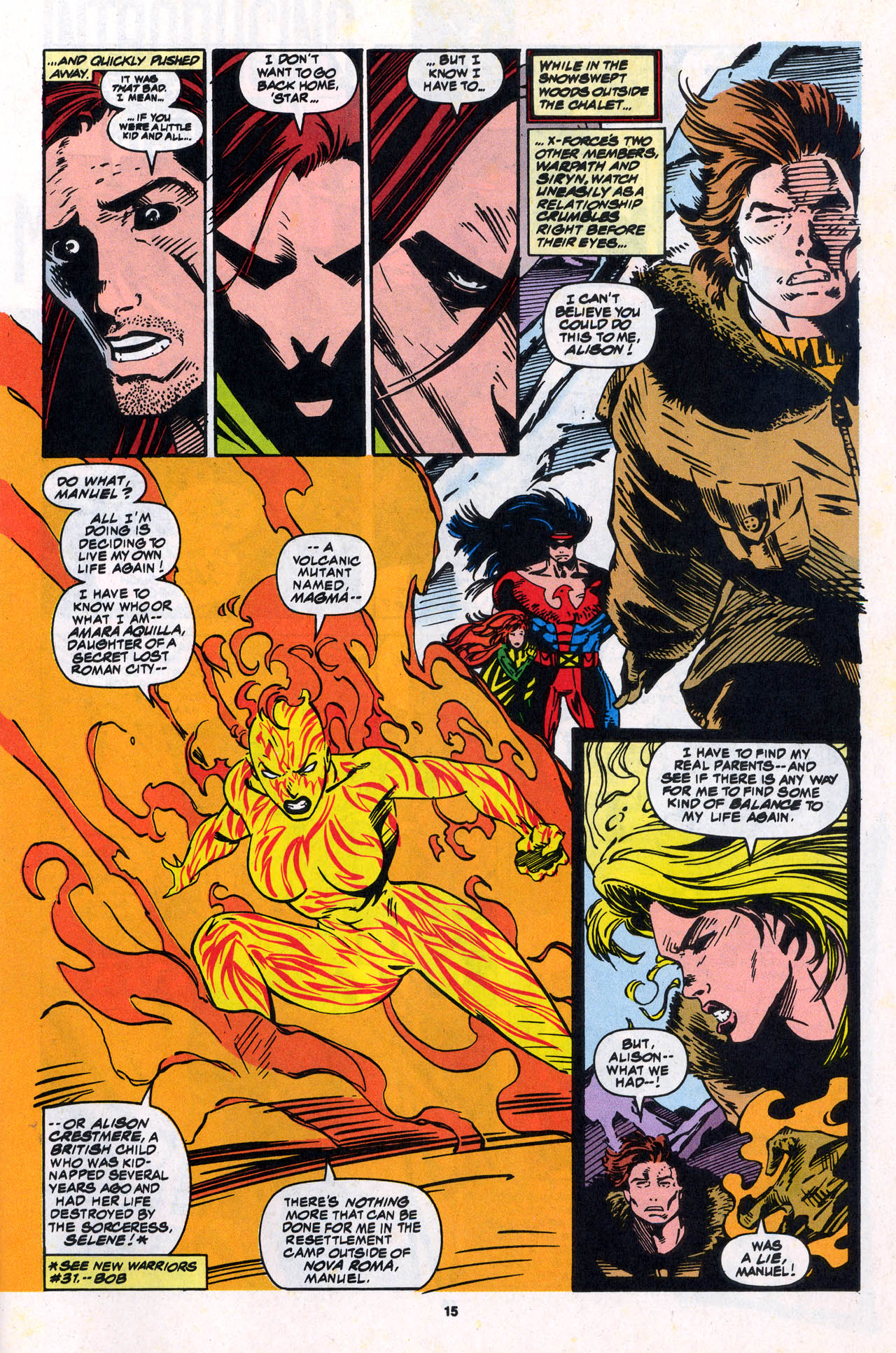 Read online X-Force (1991) comic -  Issue #34 - 16