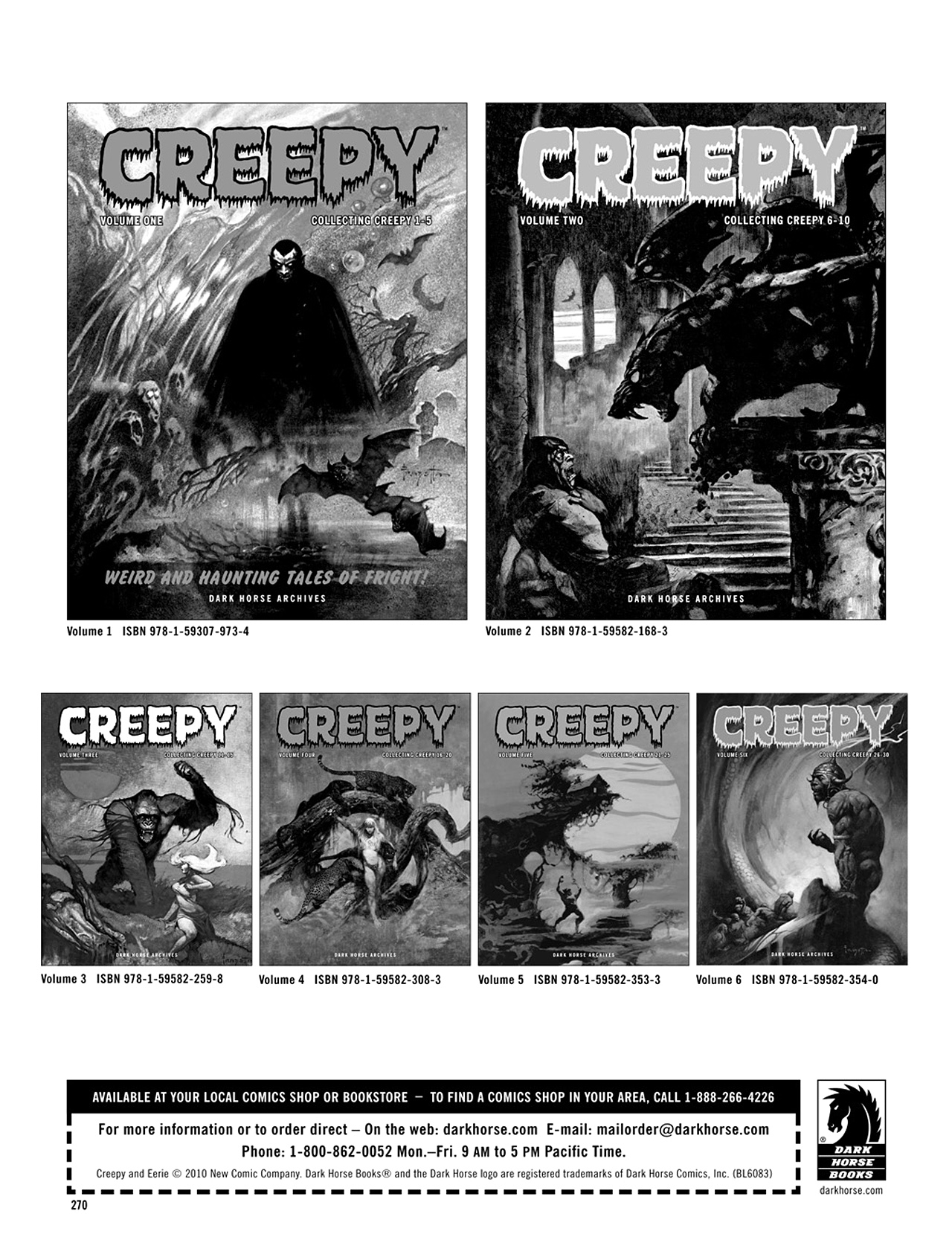 Read online Eerie Archives comic -  Issue # TPB 5 - 271