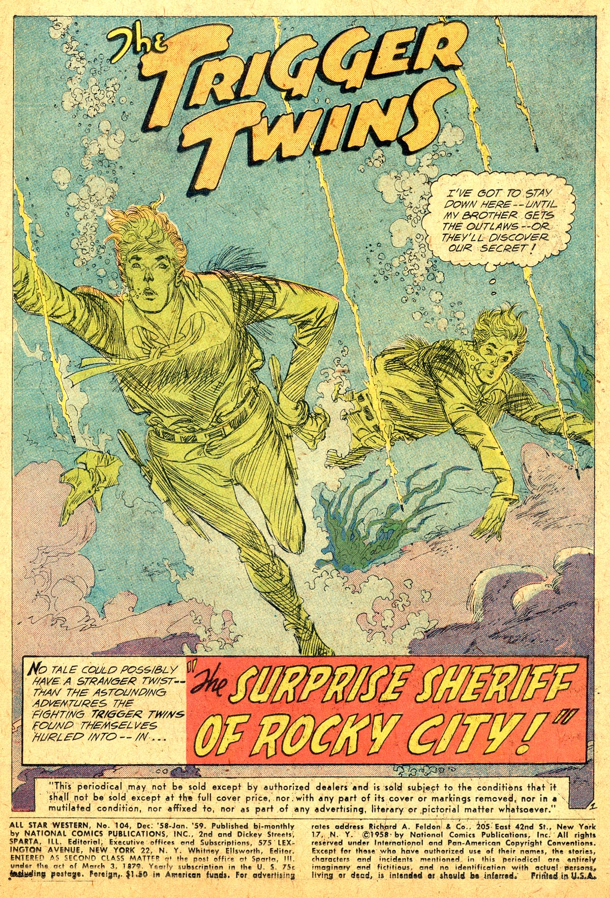 Read online All-Star Western (1951) comic -  Issue #104 - 3