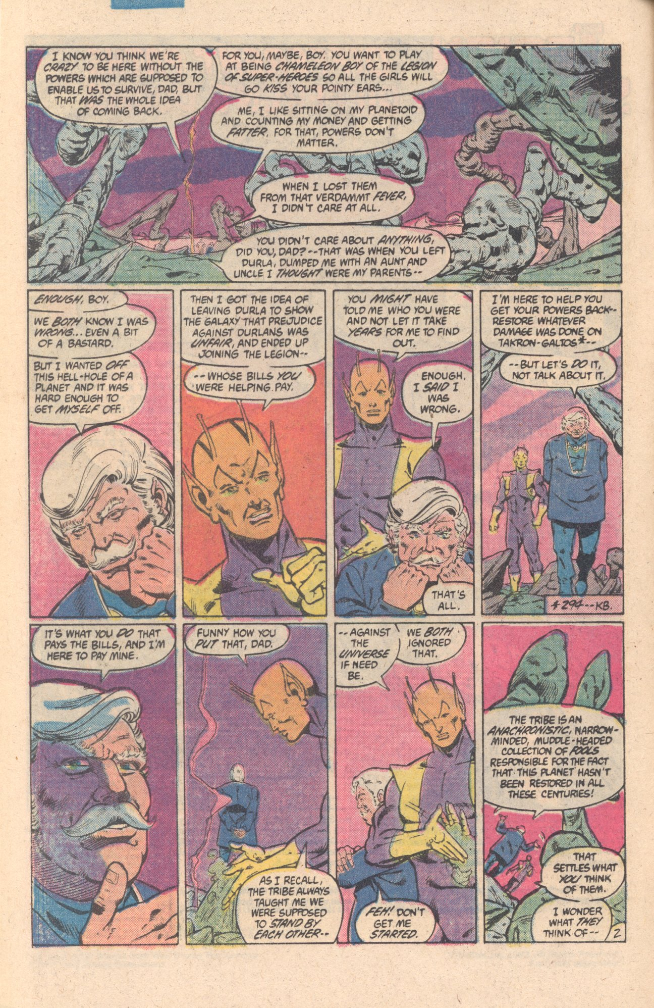 Legion of Super-Heroes (1980) 301 Page 2