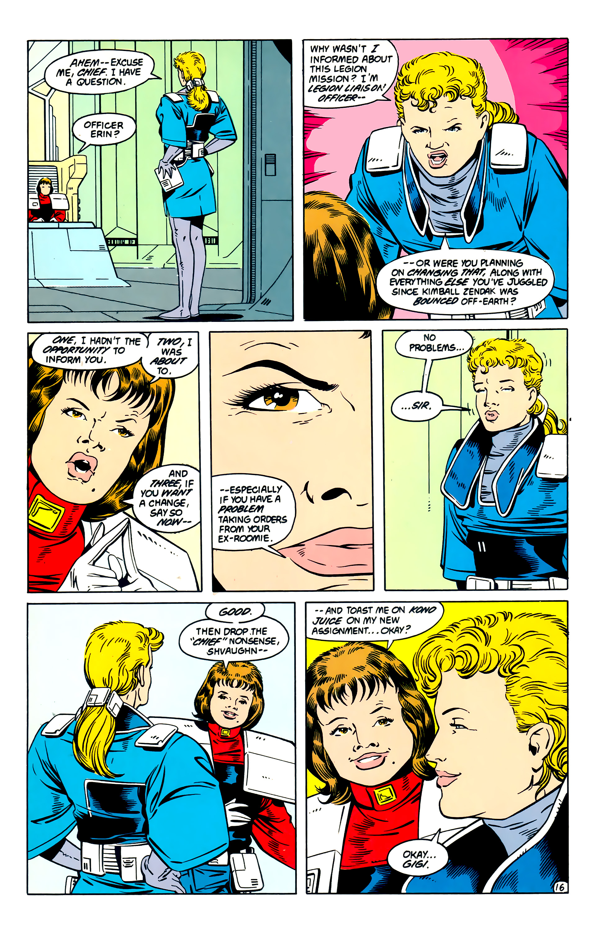 Legion of Super-Heroes (1984) 57 Page 16