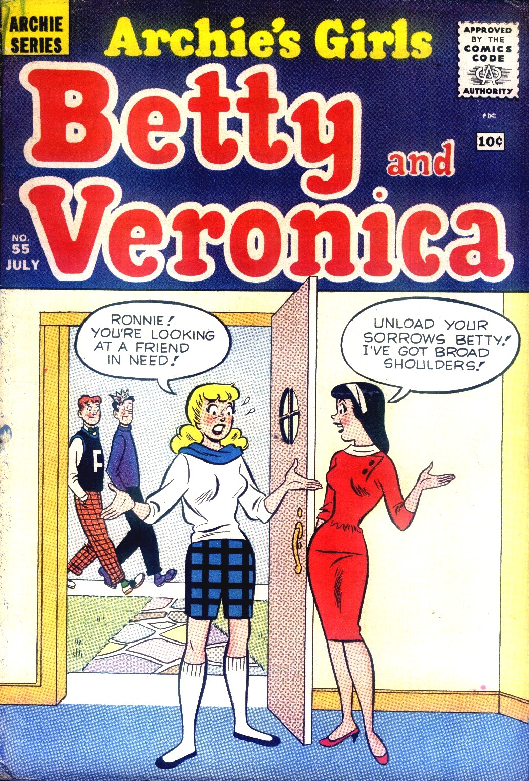 Read online Archie's Girls Betty and Veronica comic -  Issue #55 - 1