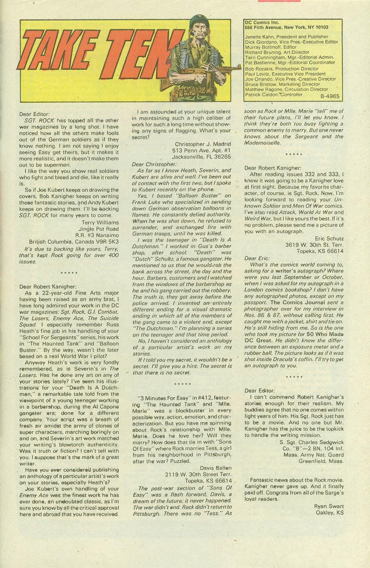 Read online Sgt. Rock comic -  Issue #420 - 32