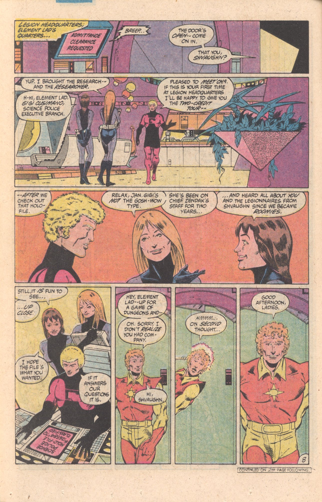 Legion of Super-Heroes (1980) 301 Page 8