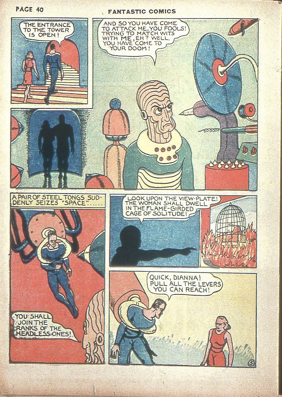 Read online Fantastic Comics comic -  Issue #4 - 41