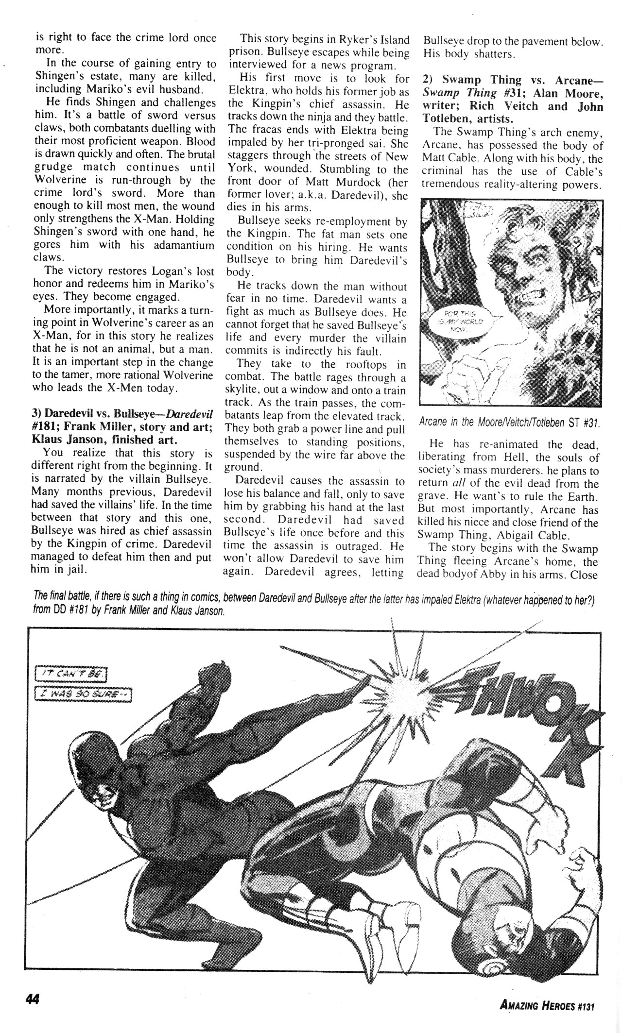 Read online Amazing Heroes comic -  Issue #131 - 44