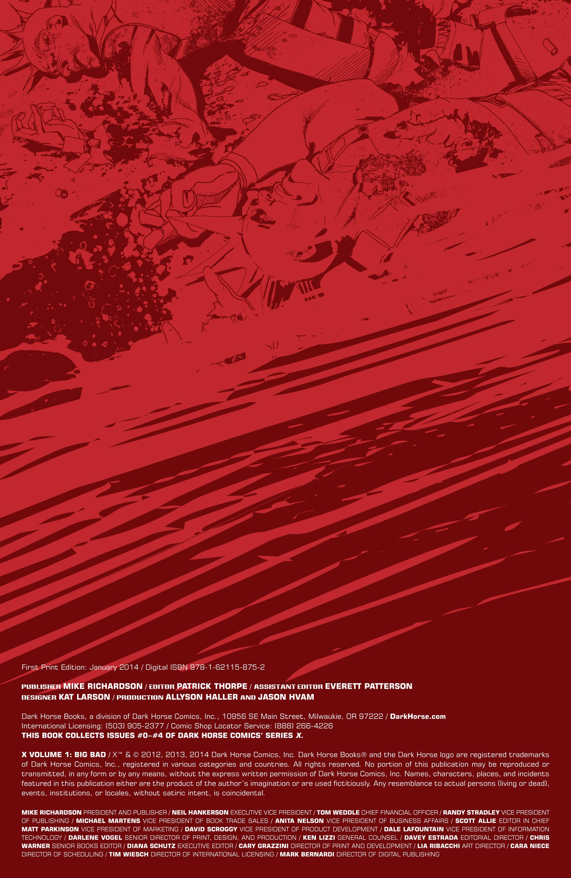Read online X: Big Bad comic -  Issue # Full - 5