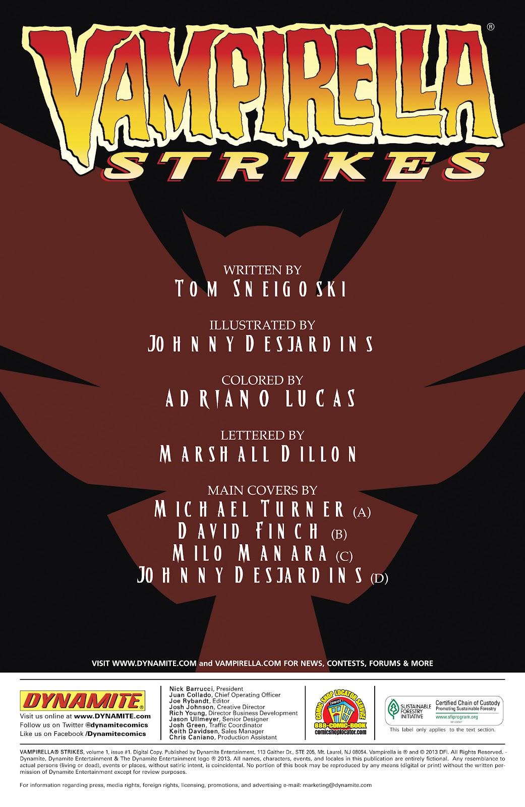 Read online Vampirella Strikes comic -  Issue #1 - 5