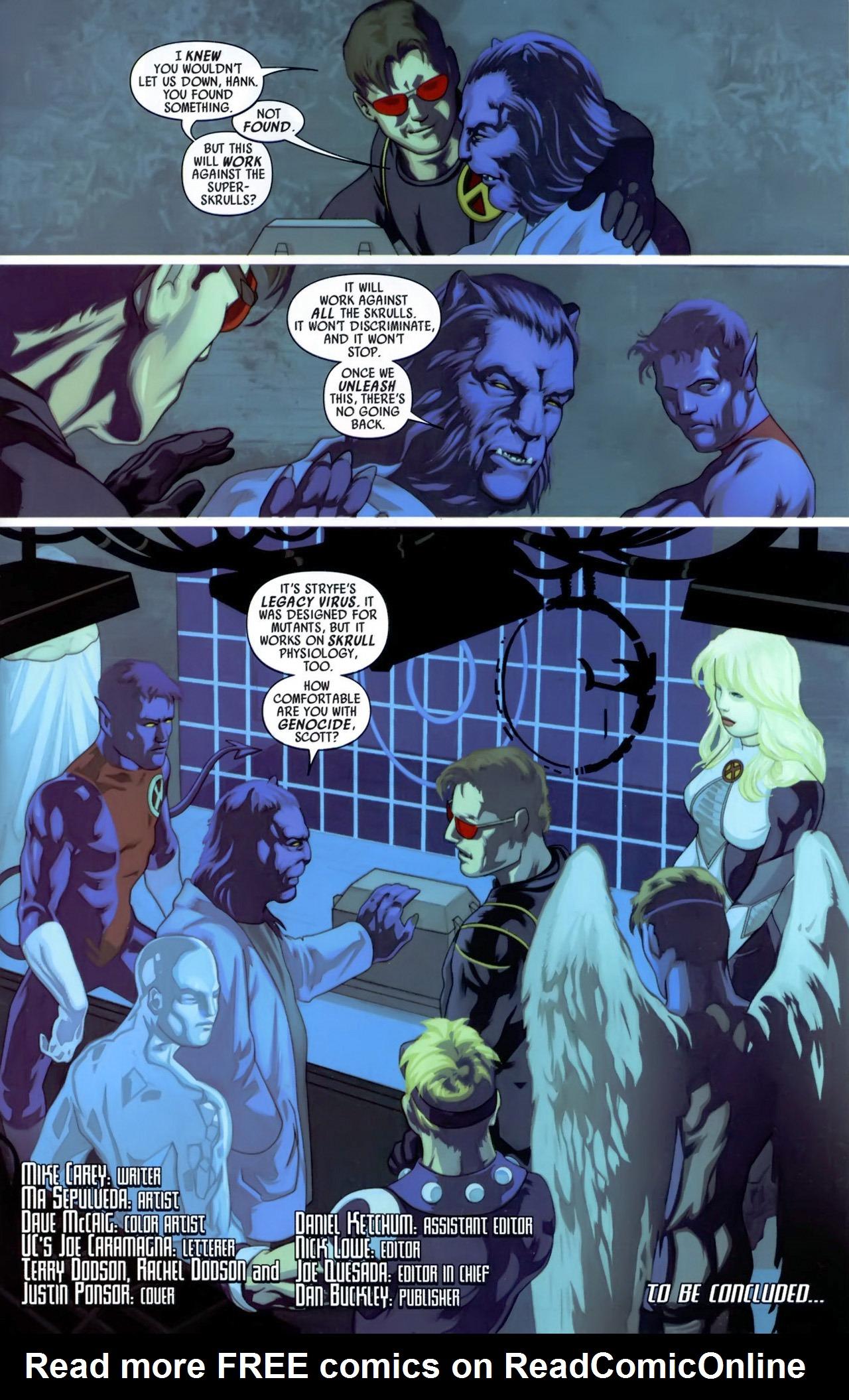 Read online Secret Invasion: X-Men comic -  Issue #3 - 24