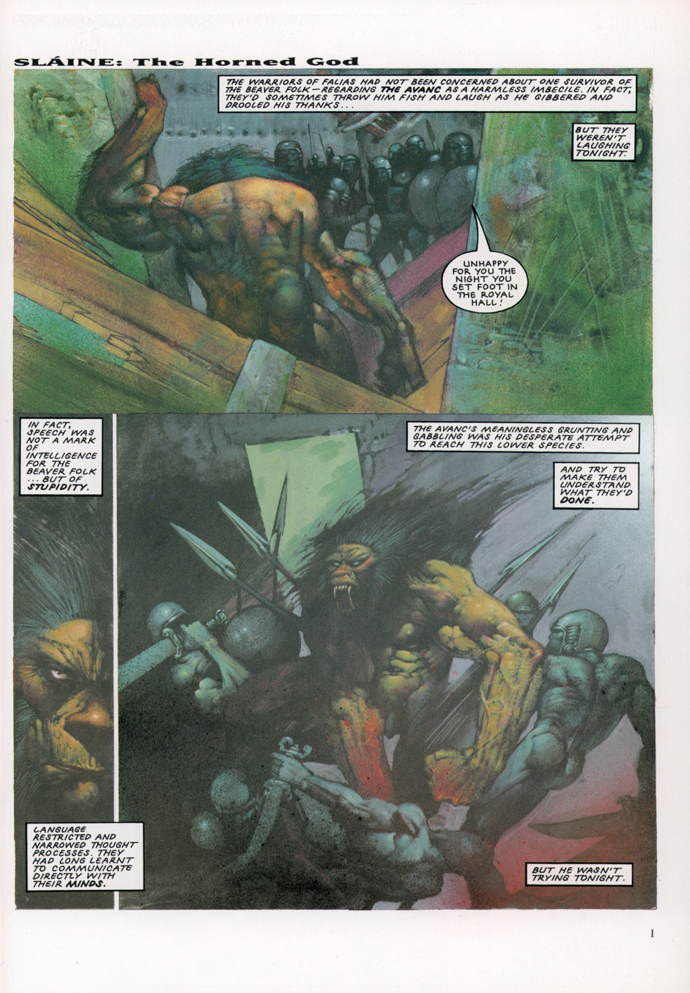 Read online Slaine: The Horned God (1993) comic -  Issue #4 - 2