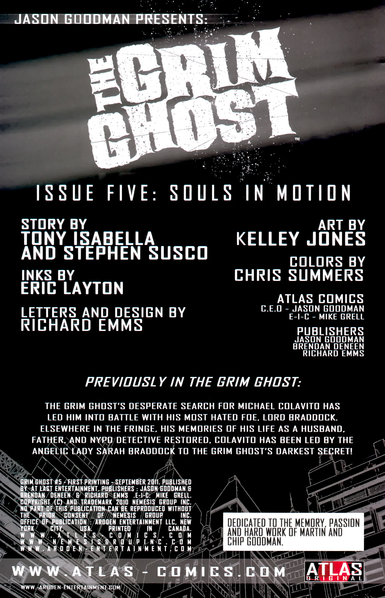 Read online The Grim Ghost comic -  Issue #5 - 2