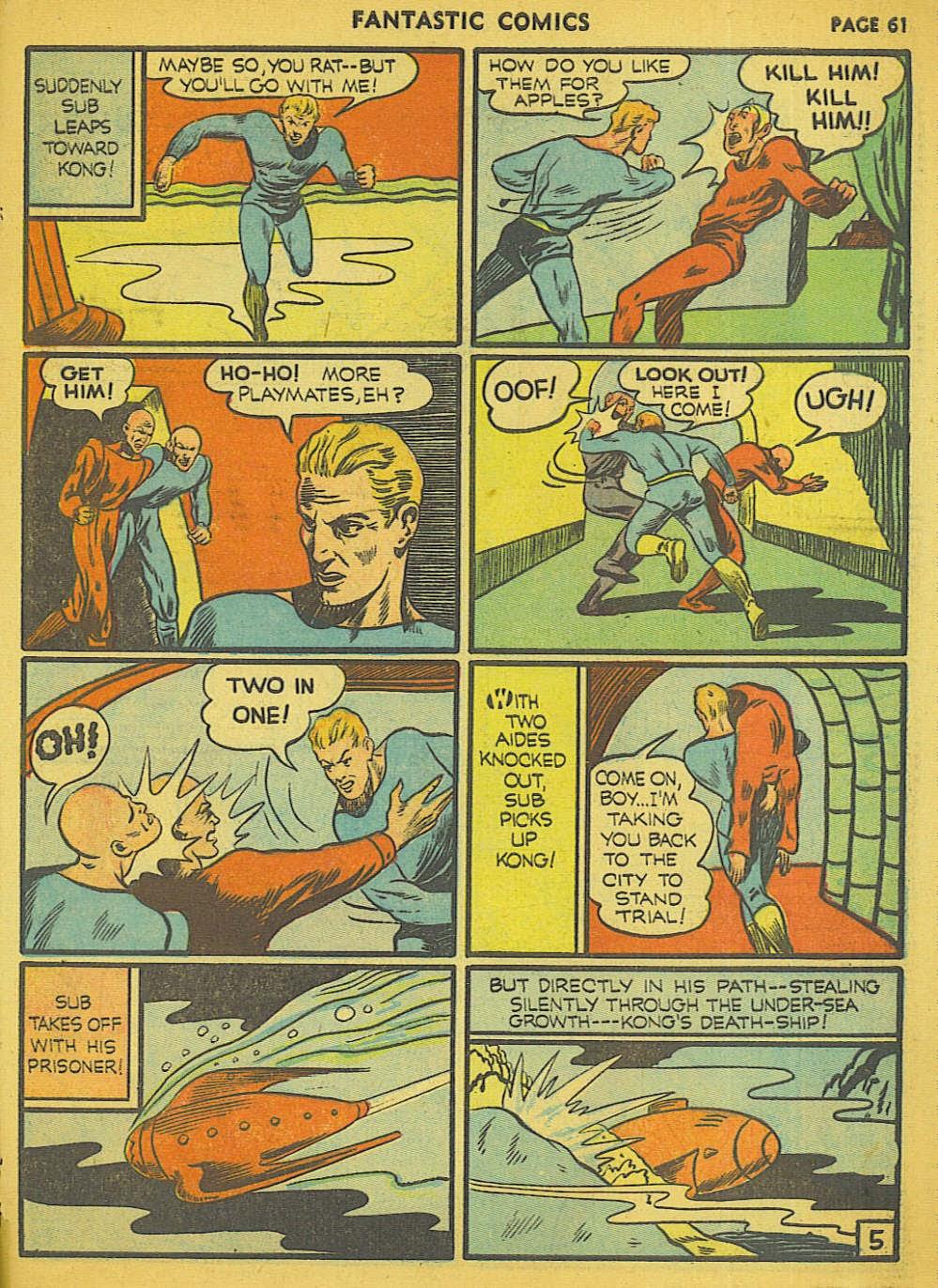 Read online Fantastic Comics comic -  Issue #15 - 57