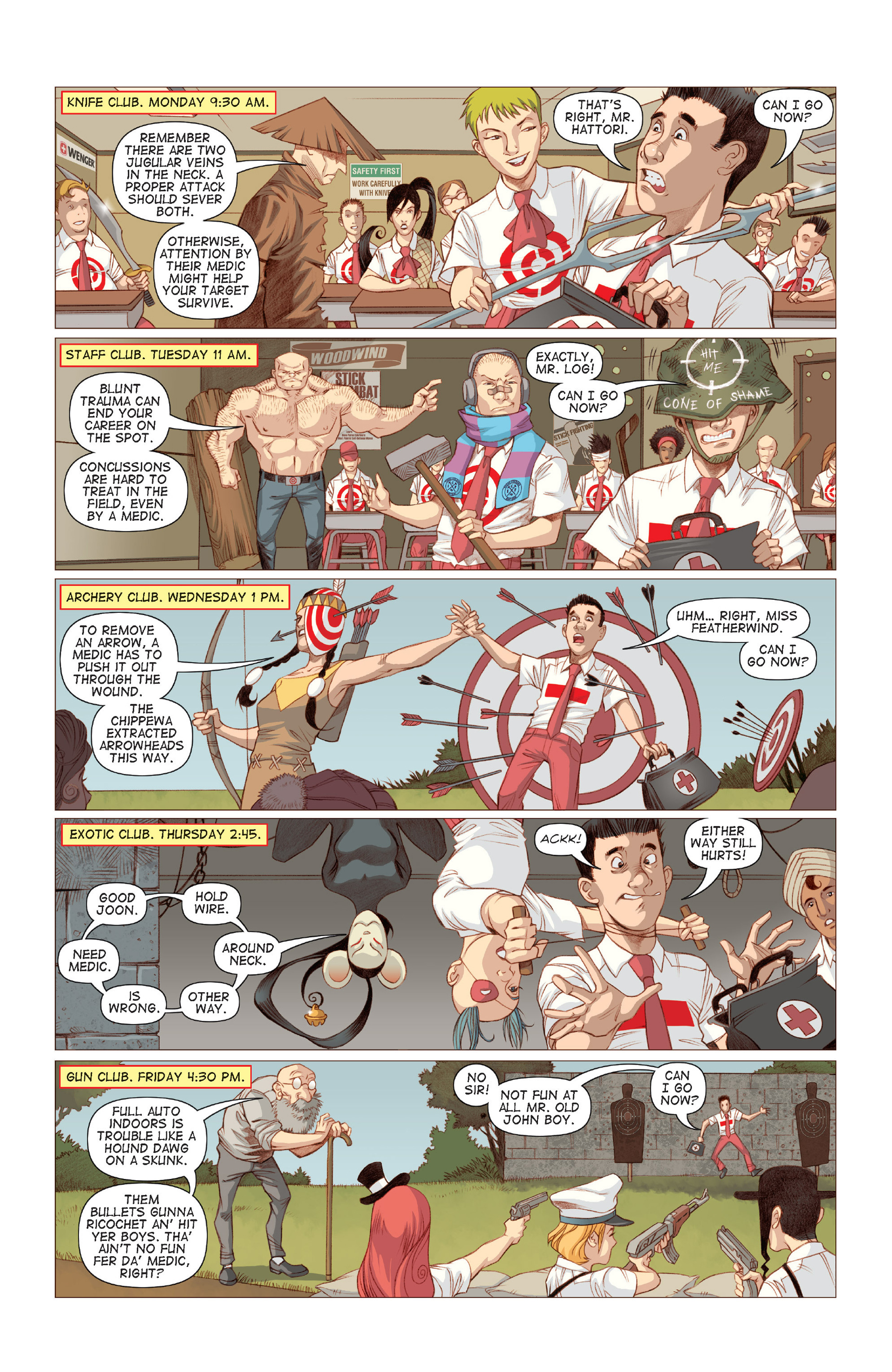 Read online Five Weapons comic -  Issue #6 - 15
