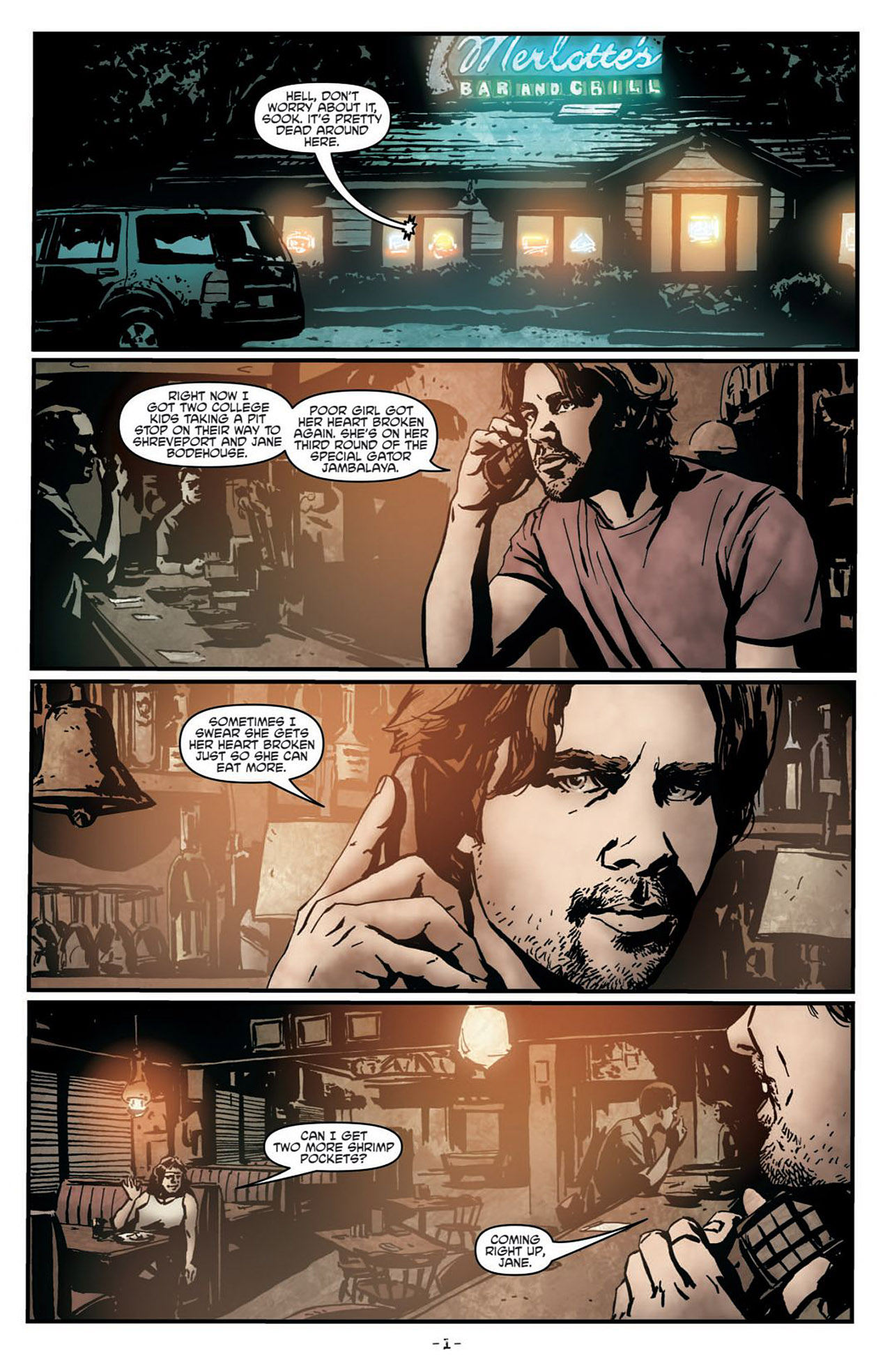 Read online True Blood (2012) comic -  Issue #1 - 5