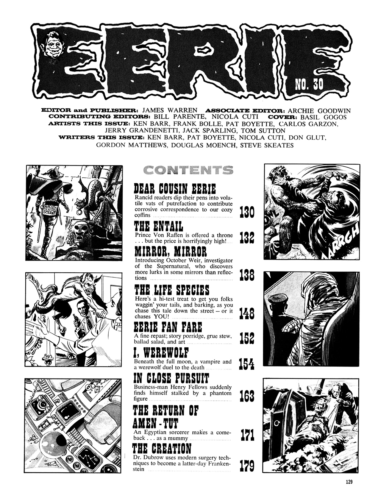 Read online Eerie Archives comic -  Issue # TPB 6 - 129