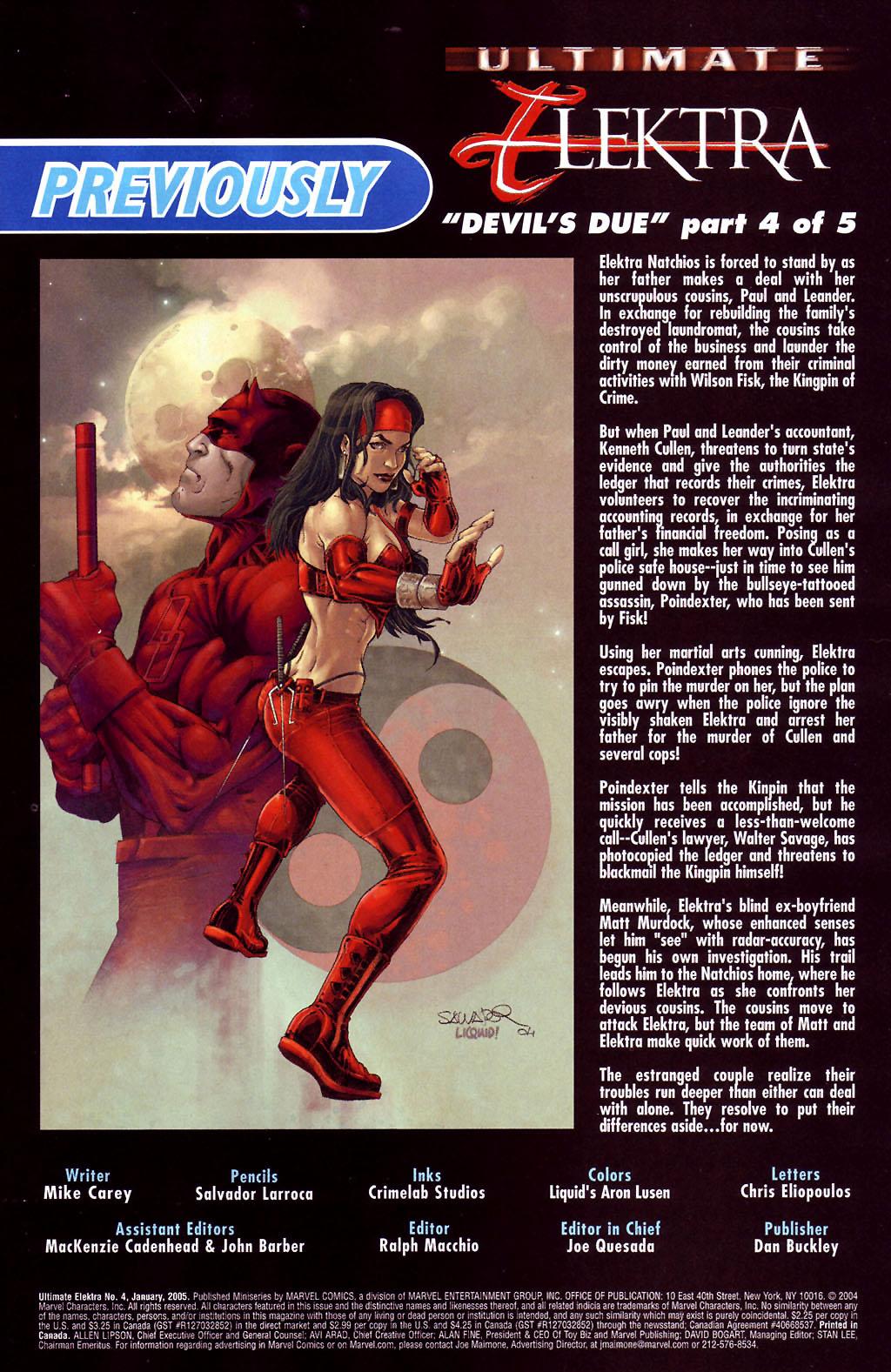 Read online Ultimate Elektra comic -  Issue #4 - 3