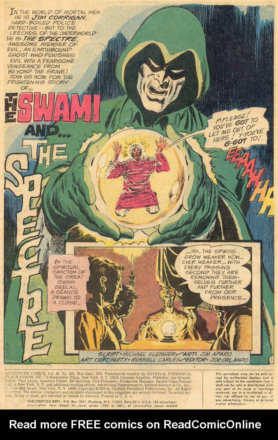 Read online Adventure Comics (1938) comic -  Issue #433 - 2