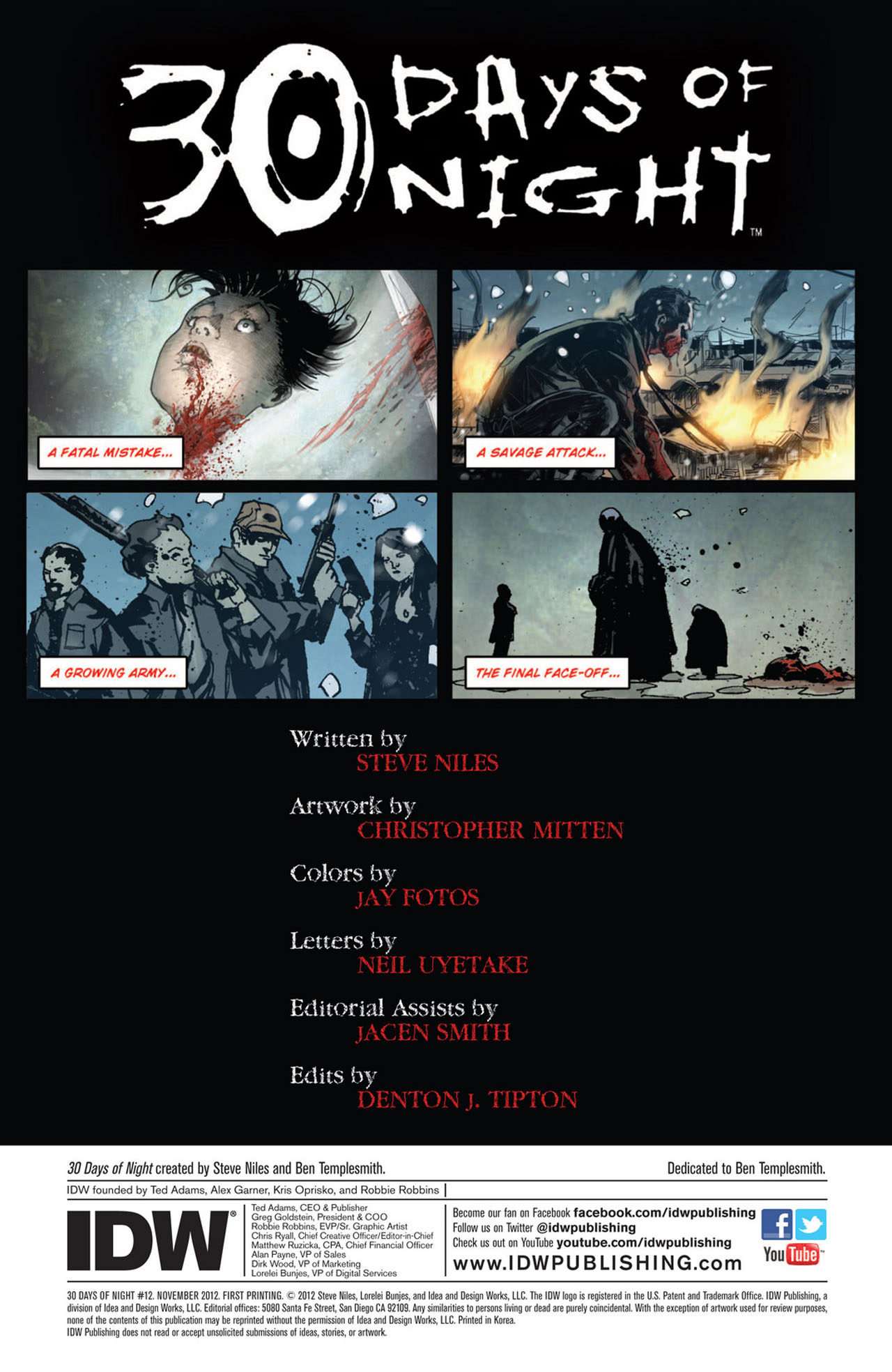 Read online 30 Days of Night (2011) comic -  Issue #12 - 2