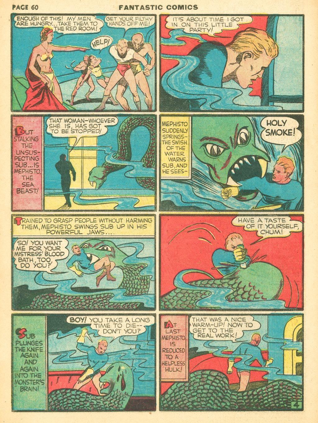 Read online Fantastic Comics comic -  Issue #12 - 62