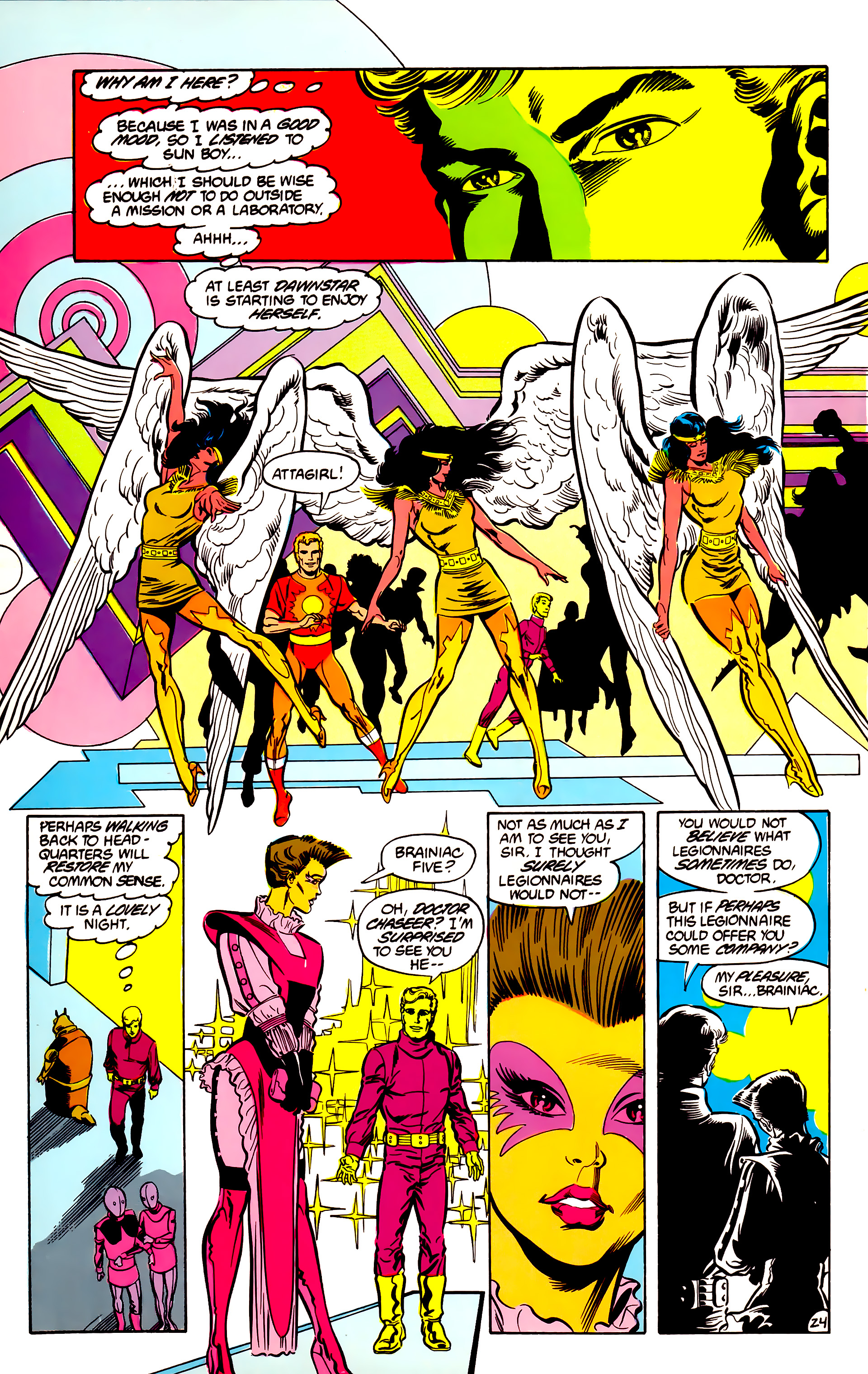 Legion of Super-Heroes (1984) 30 Page 24