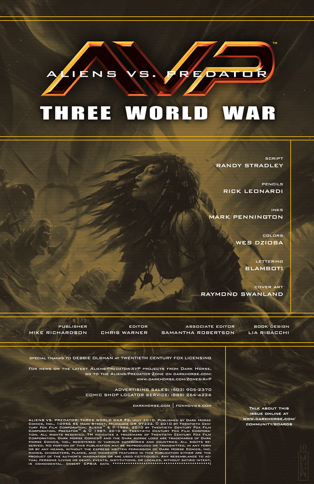 Read online Aliens vs. Predator: Three World War comic -  Issue #5 - 2