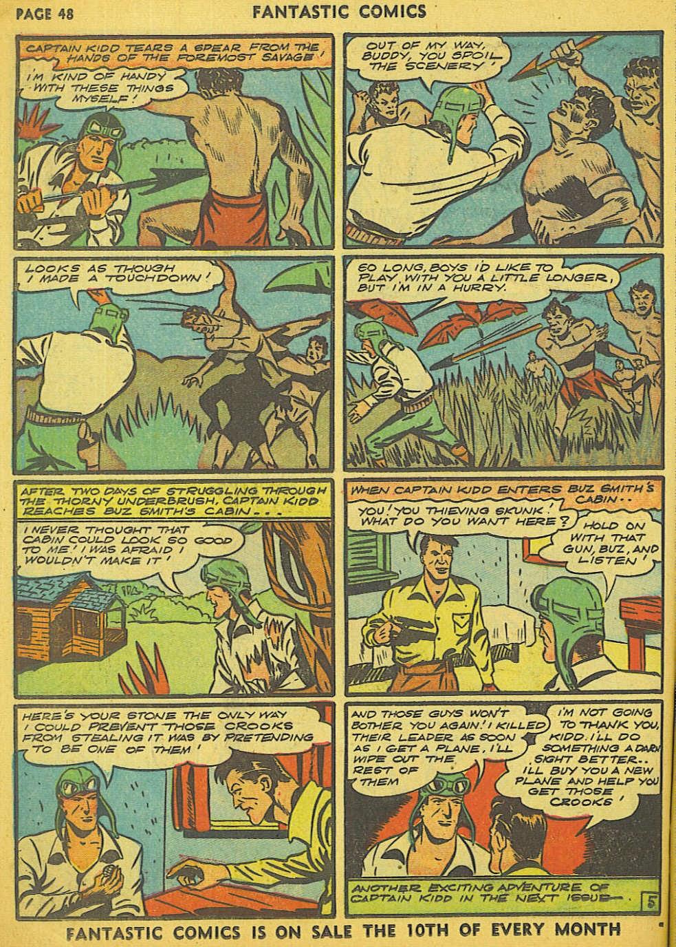 Read online Fantastic Comics comic -  Issue #15 - 42