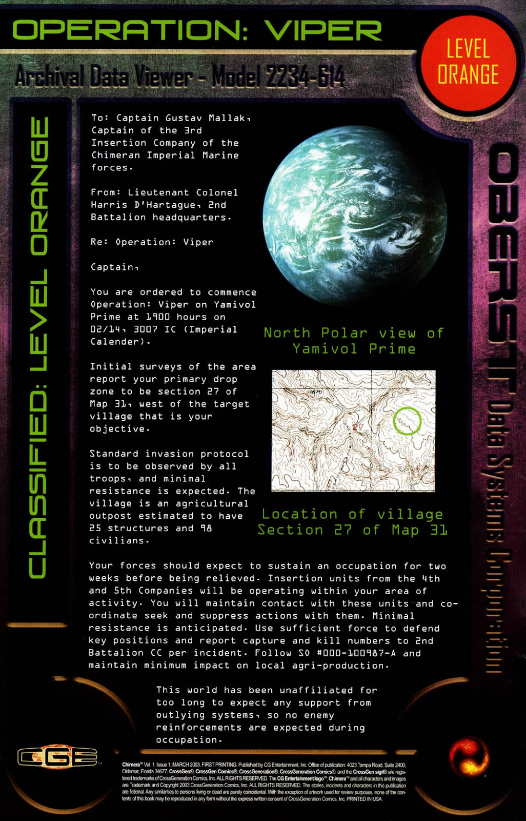 Read online Chimera comic -  Issue #1 - 2