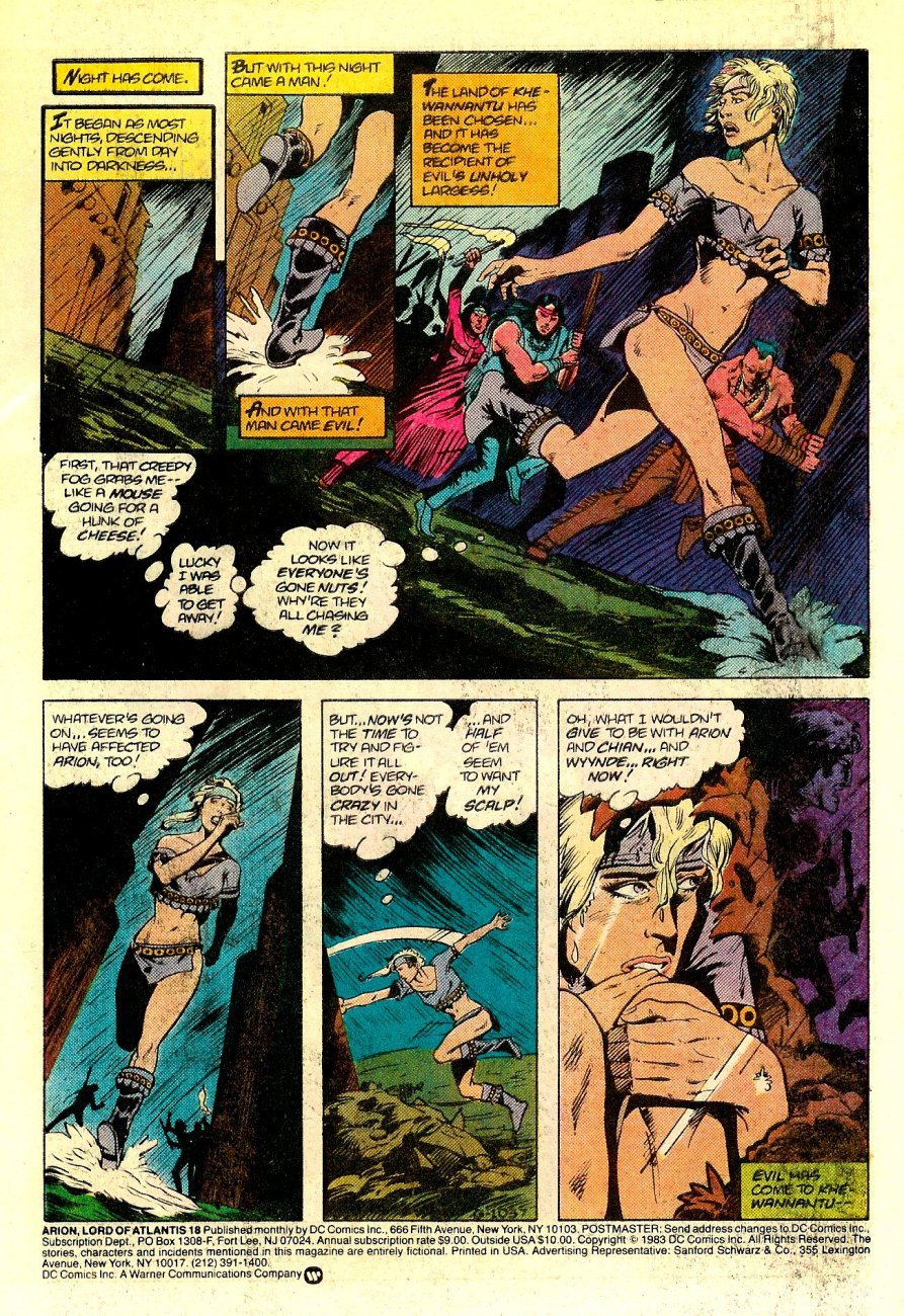 Read online Arion, Lord of Atlantis comic -  Issue #18 - 2
