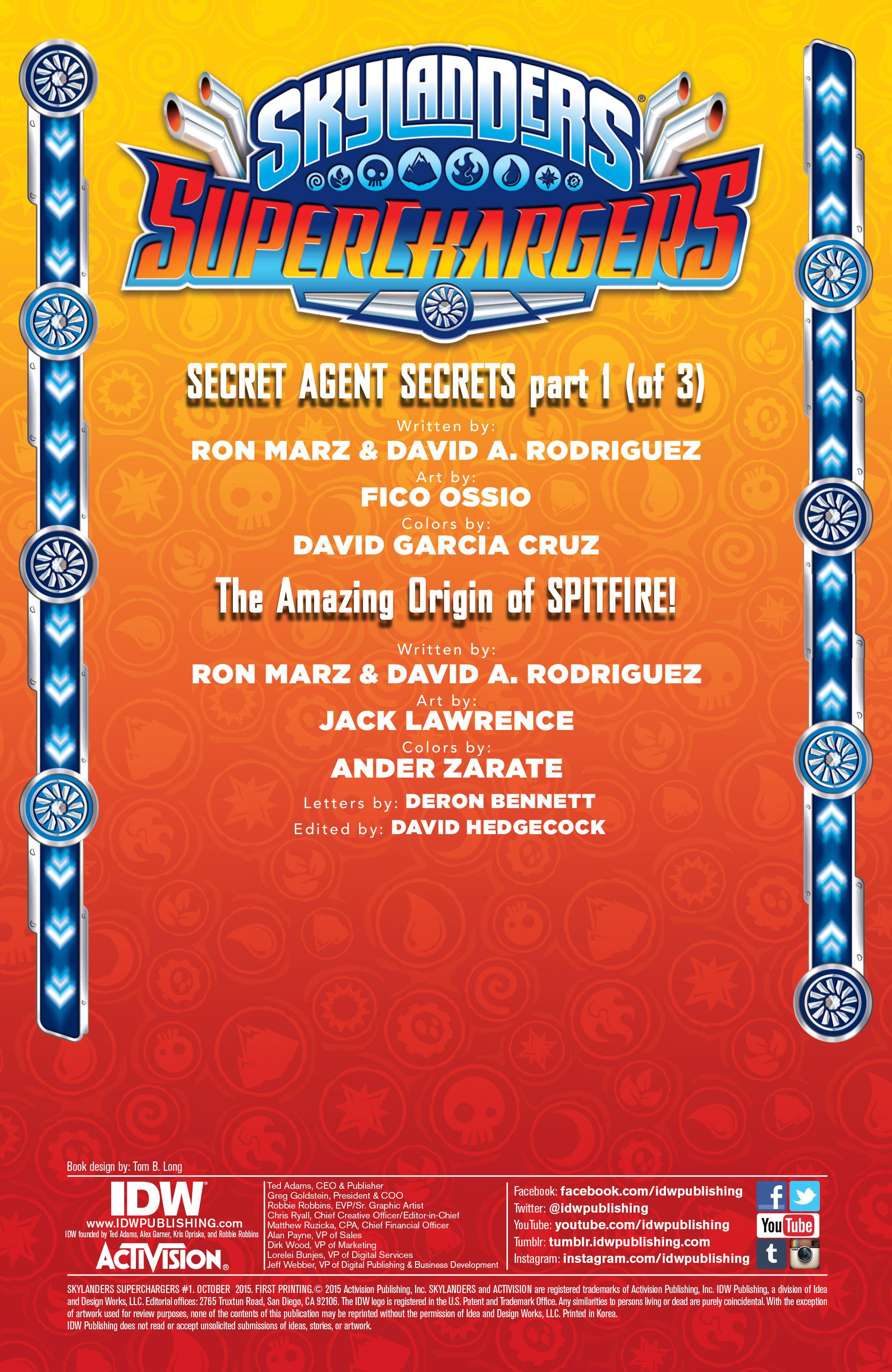 Read online Skylanders Superchargers comic -  Issue #1 - 3